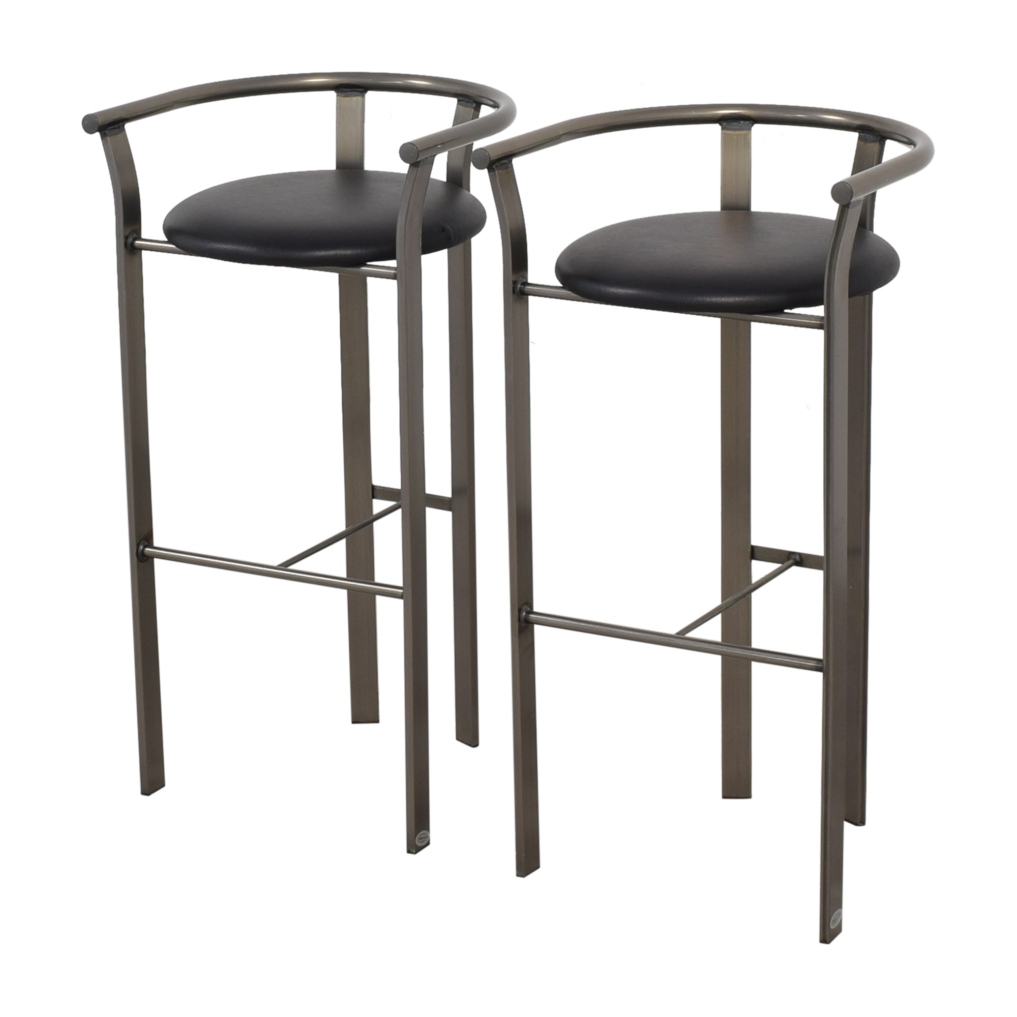 Amisco Amisco Retro Metal & Leather Bar Stools discount