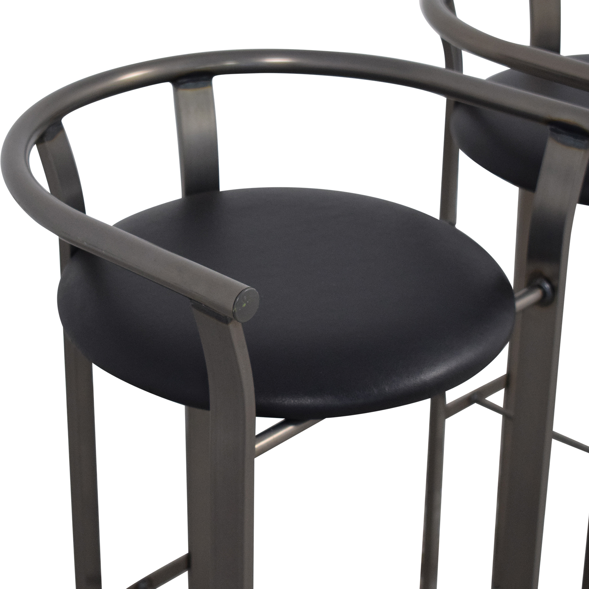 shop Amisco Retro Metal & Leather Bar Stools Amisco