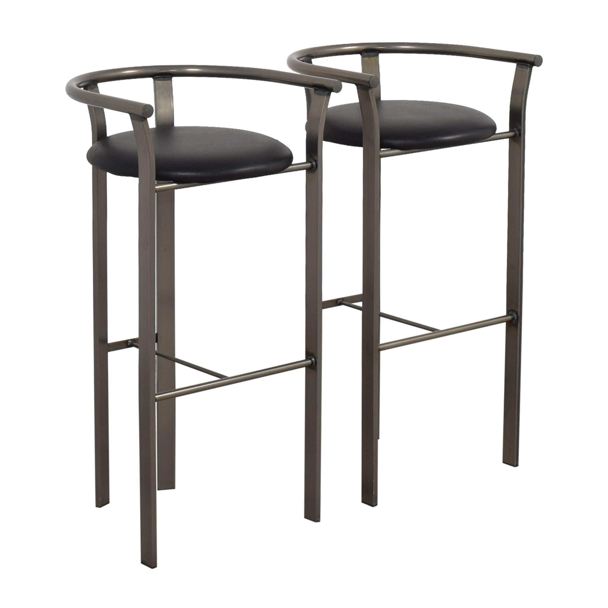 Amisco Amisco Retro Metal & Leather Bar Stools pa