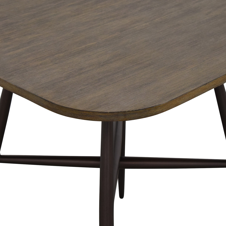 E&E Co E&E Co Small Wood & Metal Dining Table ma