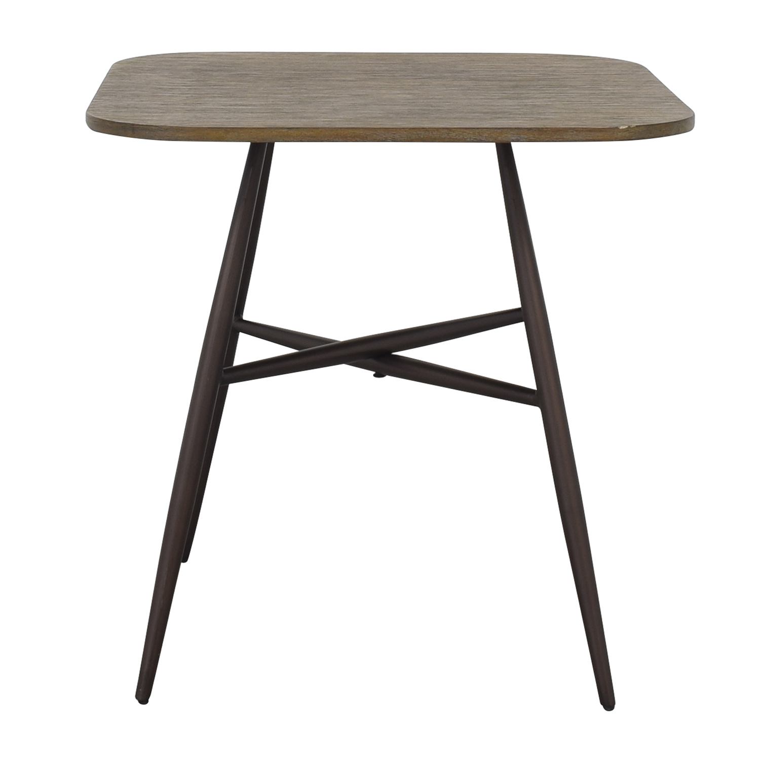 E&E Co E&E Co Small Wood & Metal Dining Table for sale