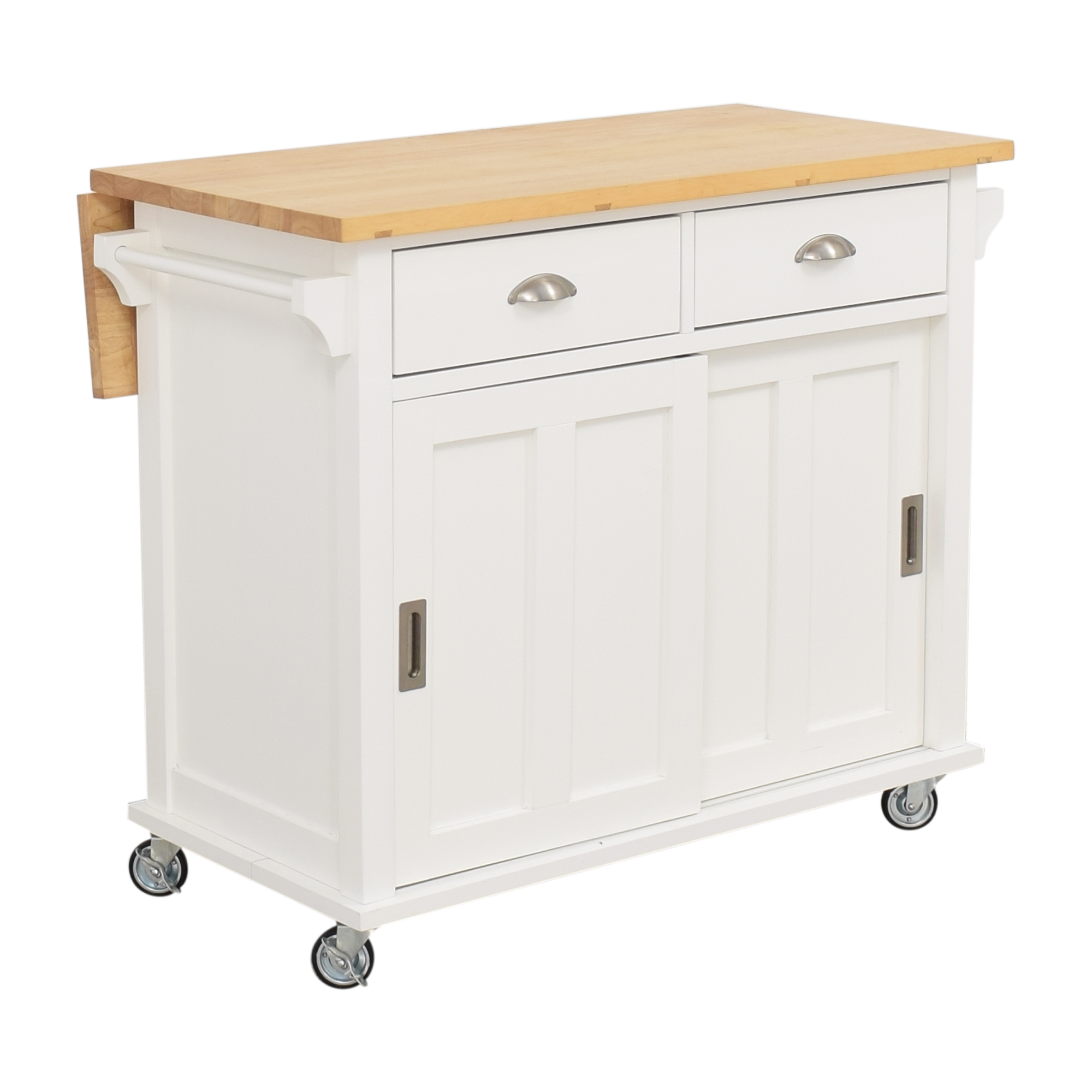 Crate & Barrel Crate & Barrel Belmont White Kitchen Island ct