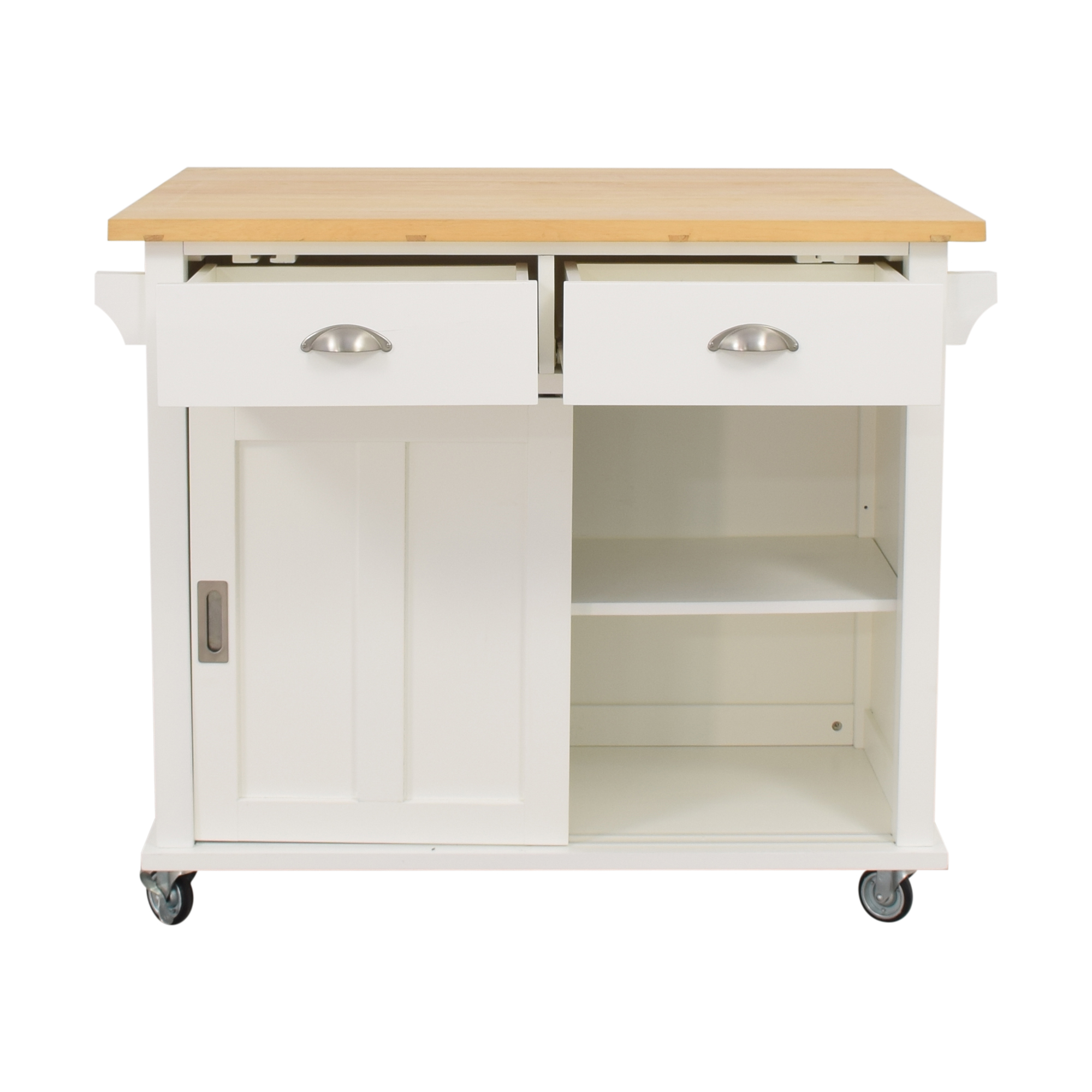 buy Crate & Barrel Belmont White Kitchen Island Crate & Barrel Utility Tables