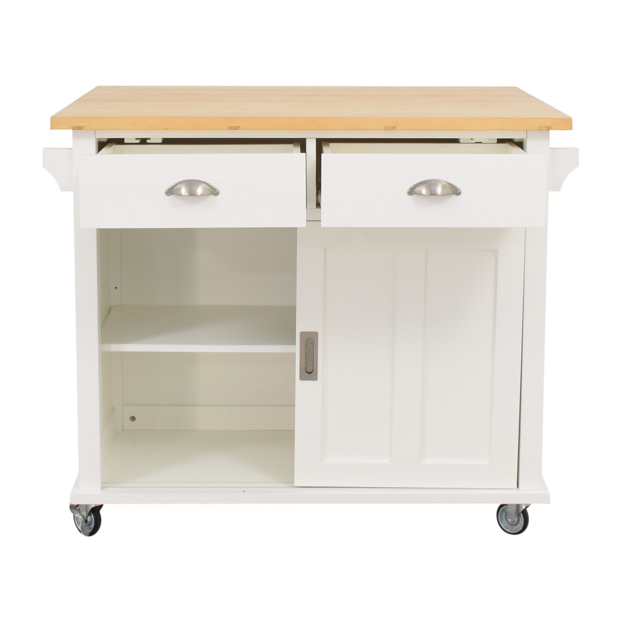 shop Crate & Barrel Belmont White Kitchen Island Crate & Barrel Tables