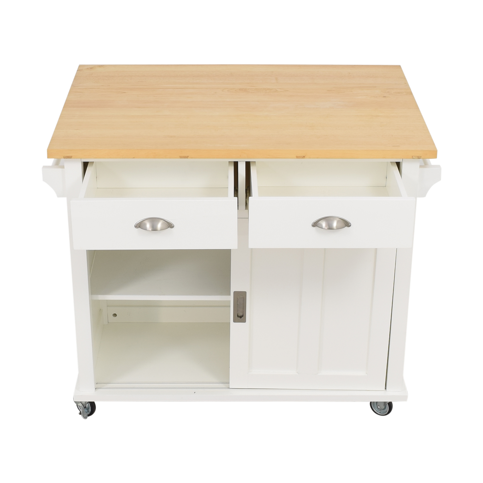 Crate & Barrel Crate & Barrel Belmont White Kitchen Island coupon
