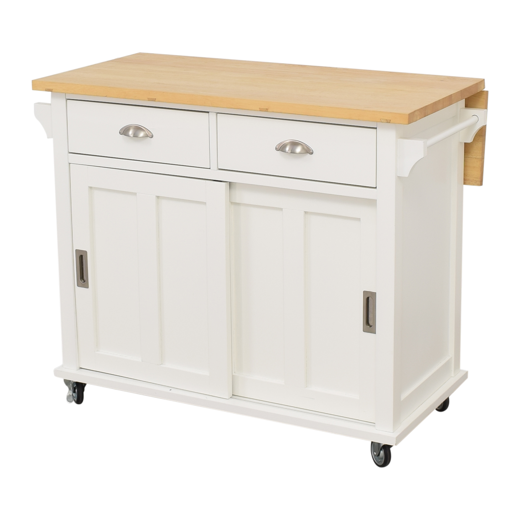 Crate & Barrel Crate & Barrel Belmont White Kitchen Island nyc