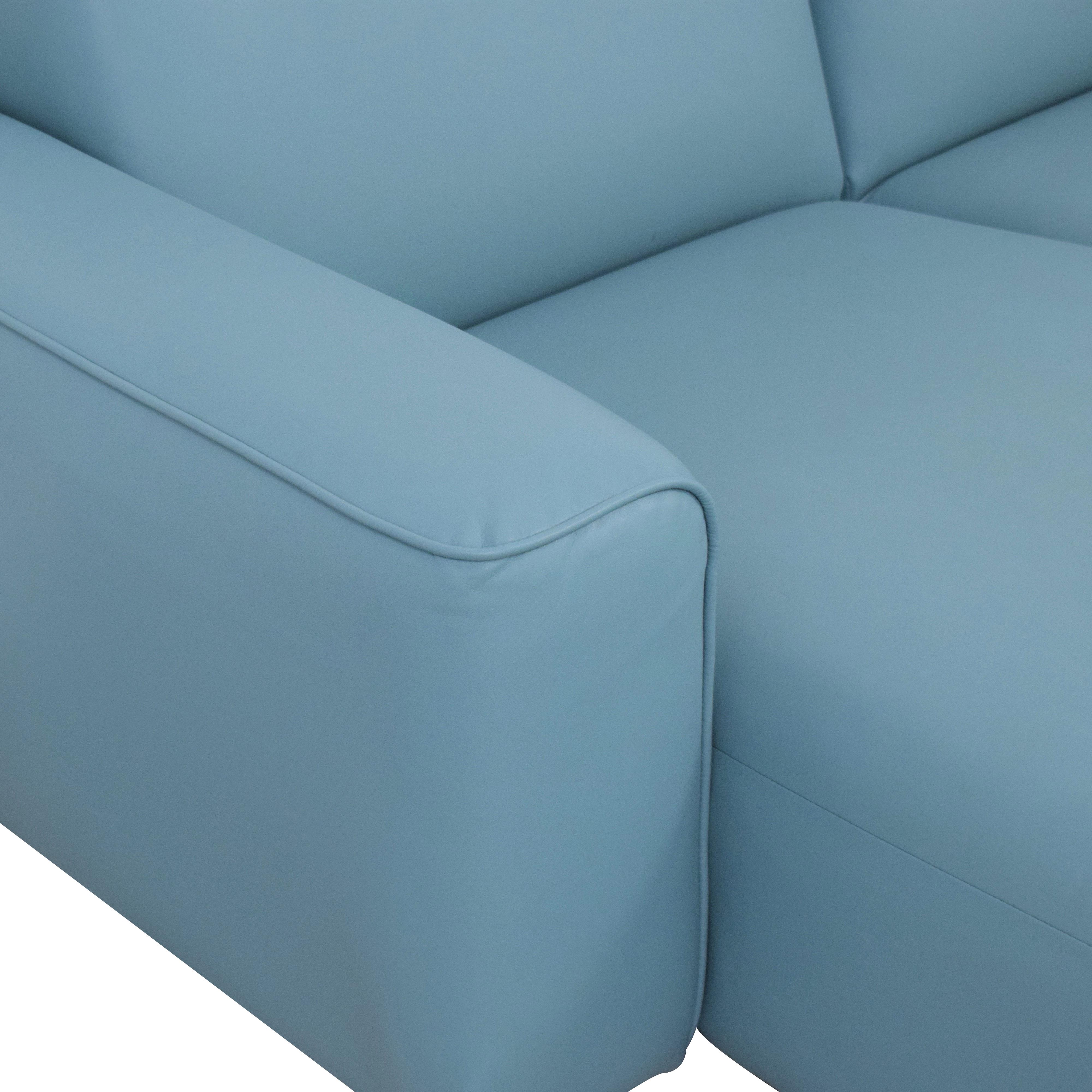 IKEA Light Blue Sectional Sofa sale