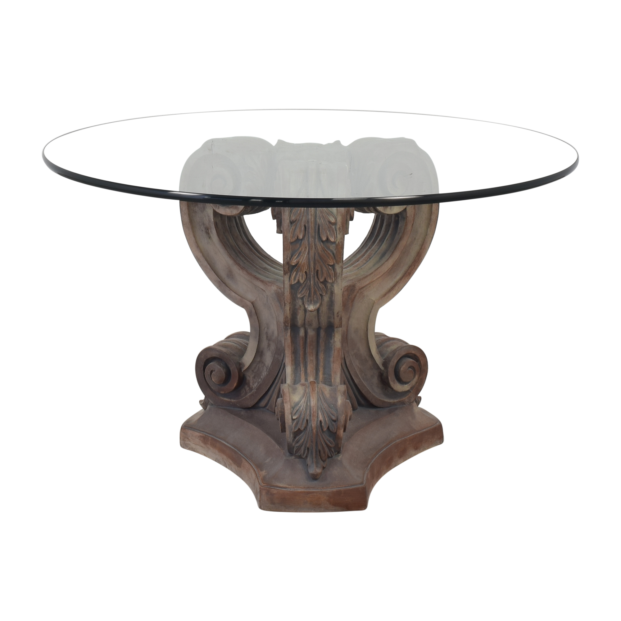 Ornate Base Dining Table for sale