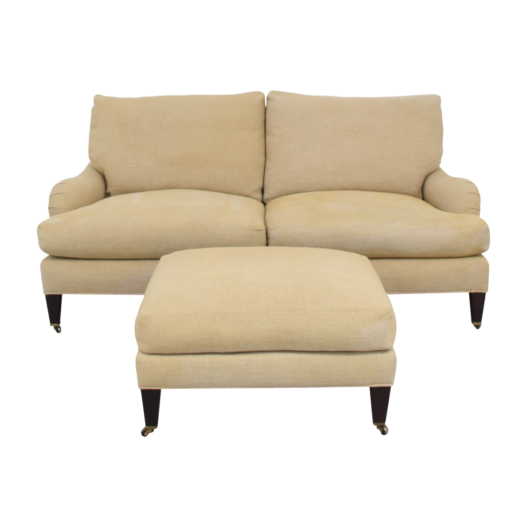 Crate & Barrel Crate & Barrel Essex Sofa with Ottoman for sale