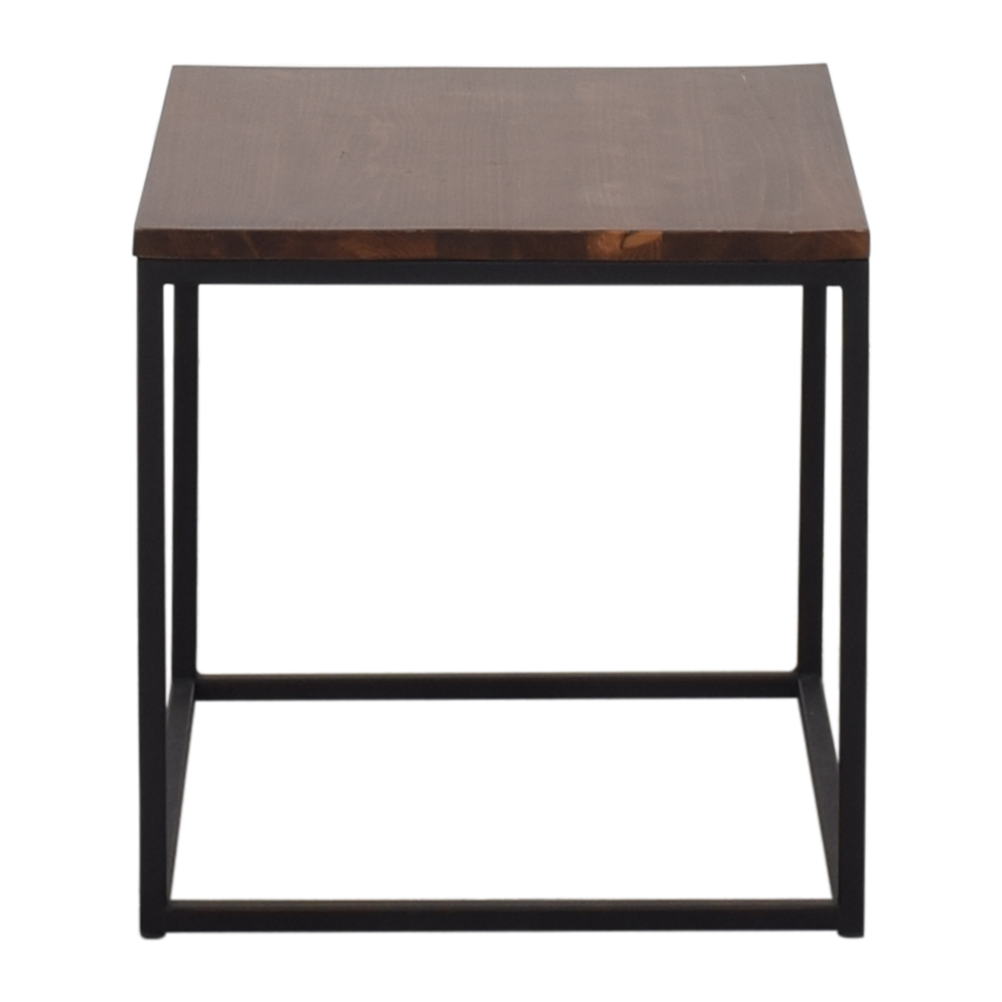 Box Frame Side Table dark brown
