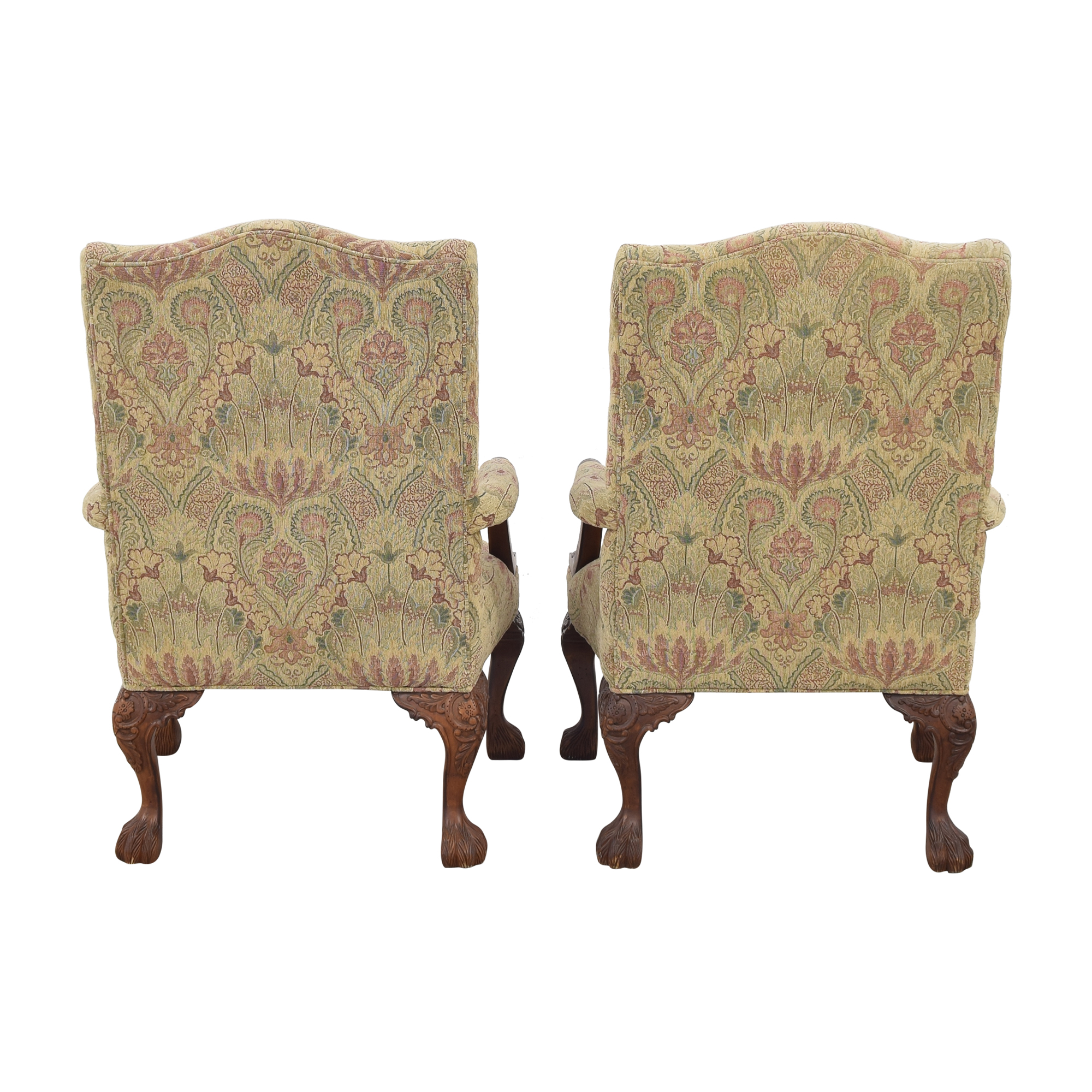 buy Sam Moore Tibetan Tapestry Old World Finish Carved Wood Chairs Sam Moore