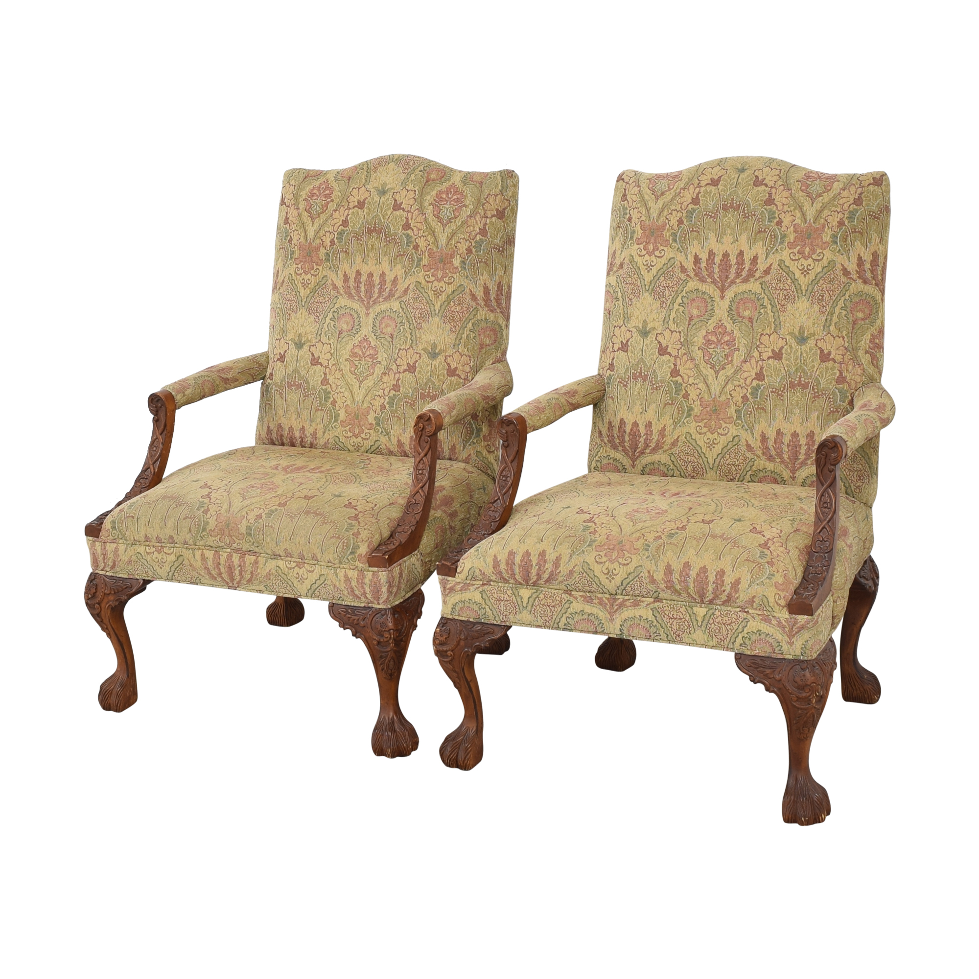 buy Sam Moore Tibetan Tapestry Old World Finish Carved Wood Chairs Sam Moore Tables