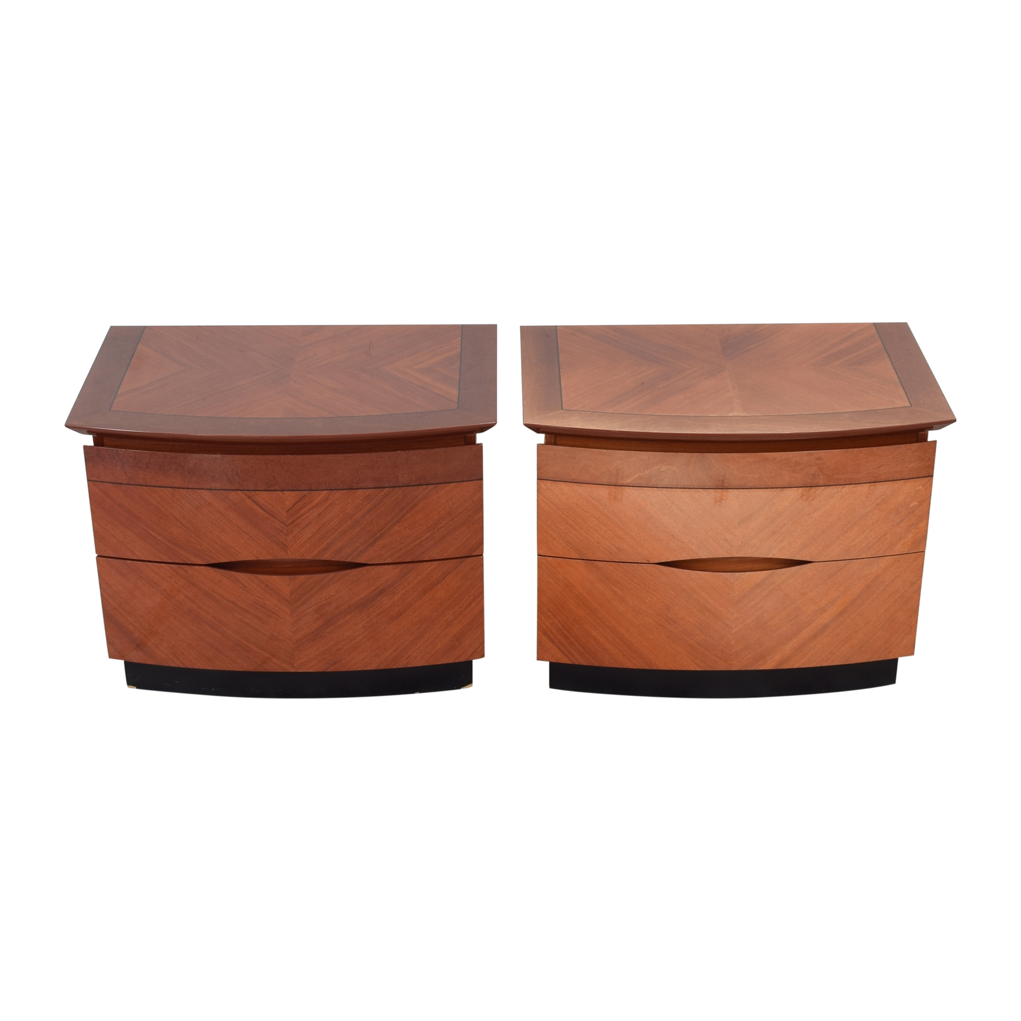 Two Drawer Nightstands brown