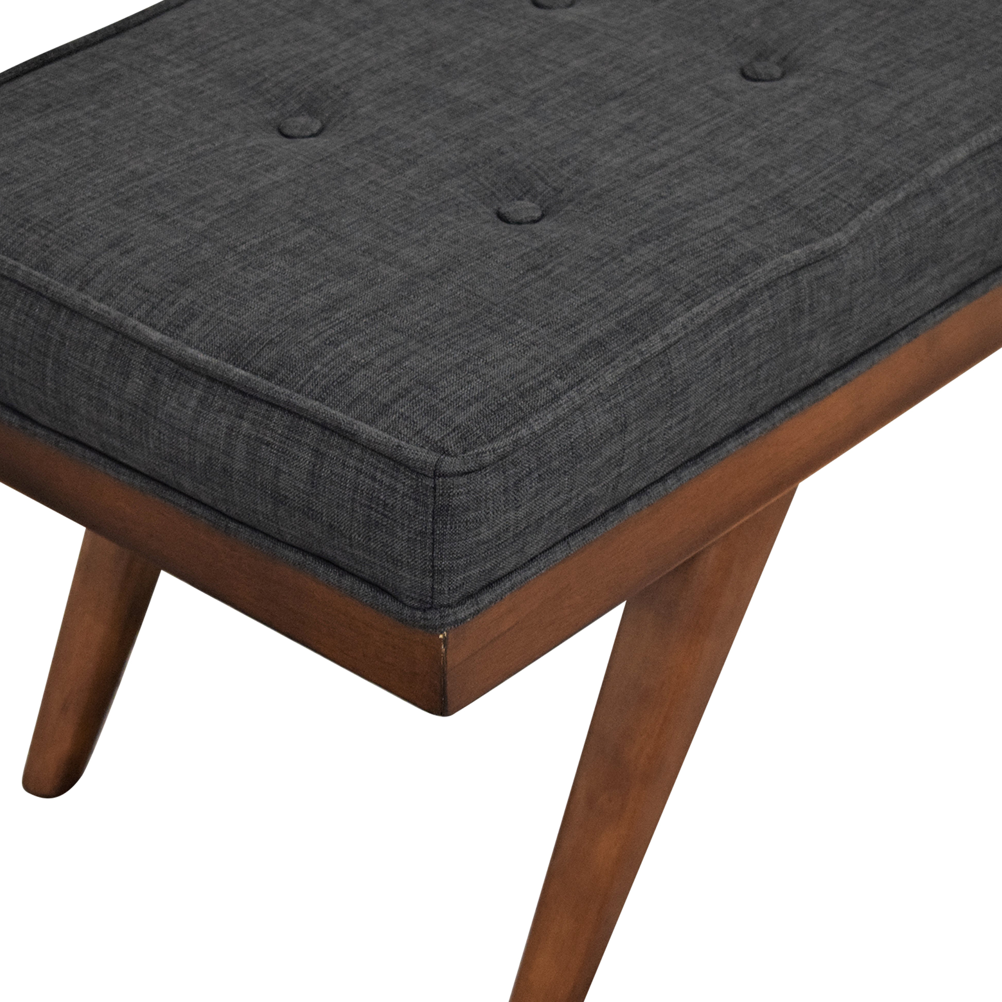 buy Mid Century Upholstered Bench  Benches