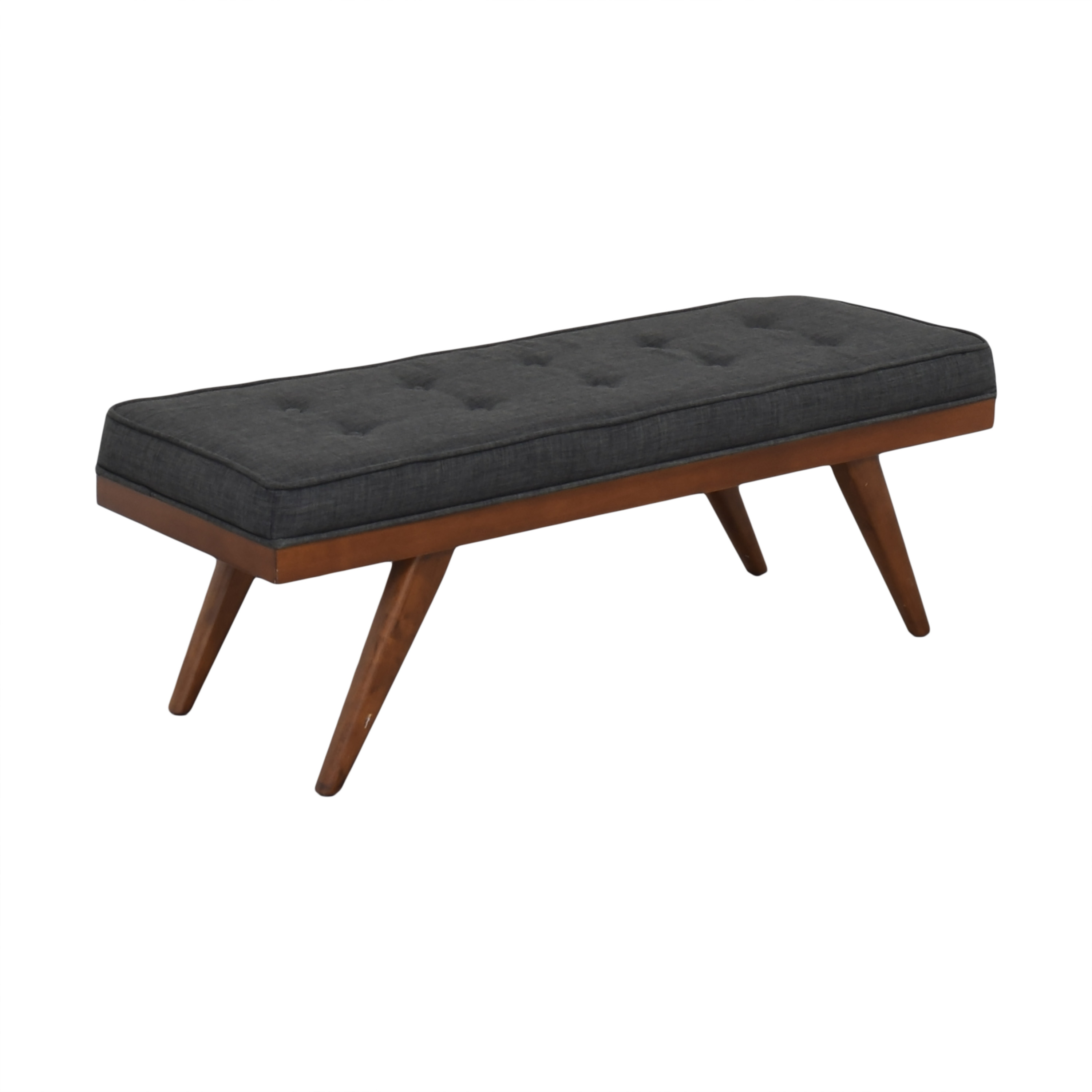 Mid Century Upholstered Bench on sale