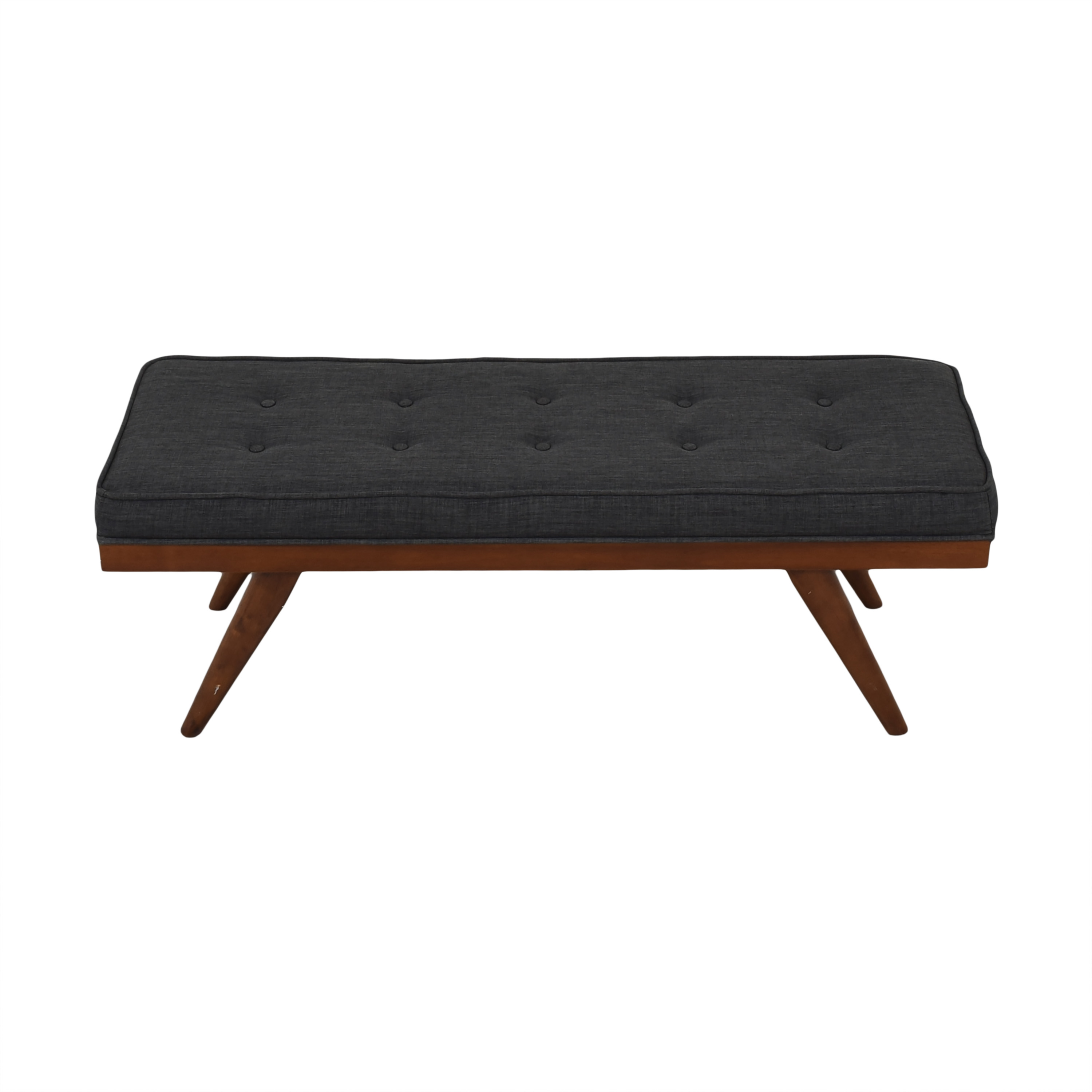 Mid Century Upholstered Bench sale