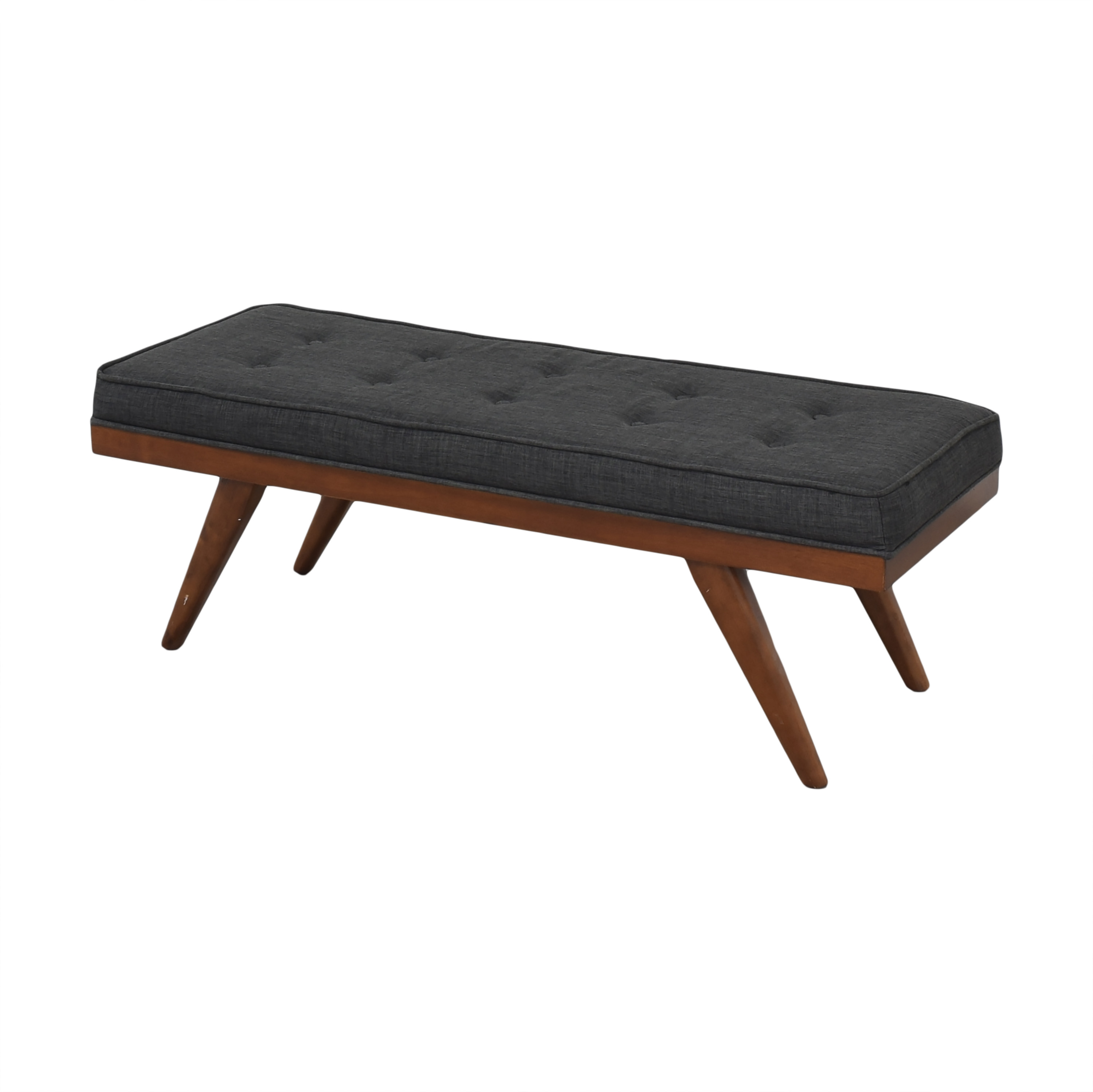 Mid Century Upholstered Bench