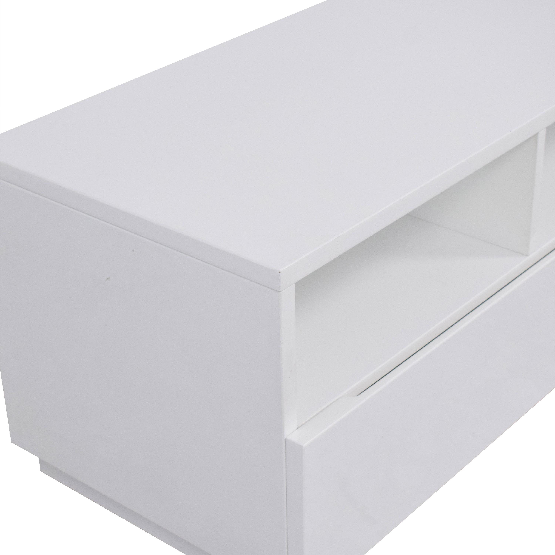 CB2 CB2 Chill White Media Console Storage