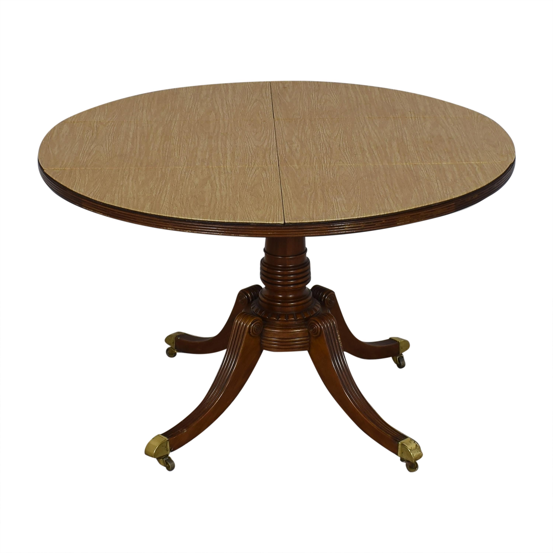 buy Baker Round Pedestal Dining Table Baker Furniture Dinner Tables