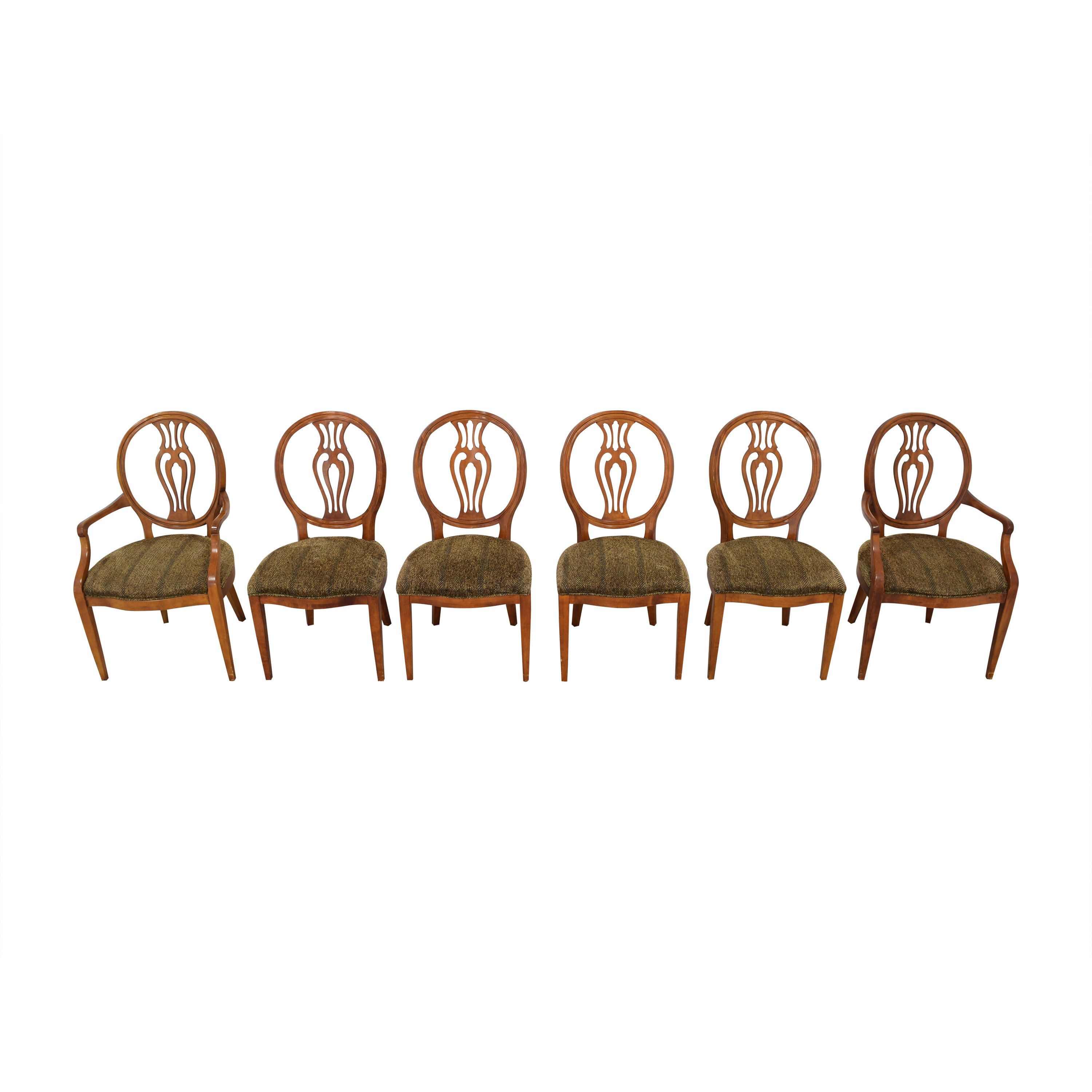 Henredon Furniture Herendon French Pierce Balloon Back Dining Chairs price