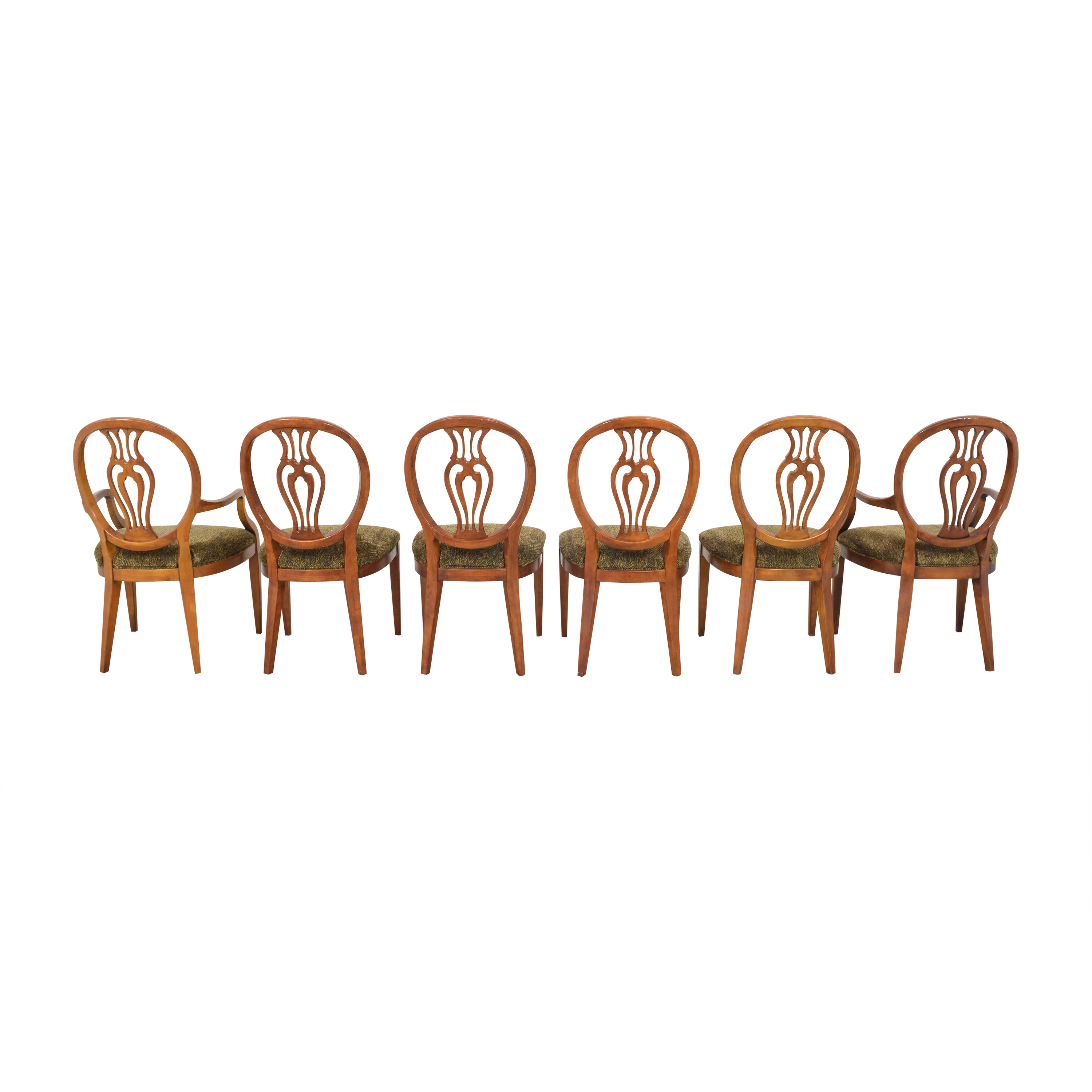 Henredon Furniture Herendon French Pierce Balloon Back Dining Chairs nyc