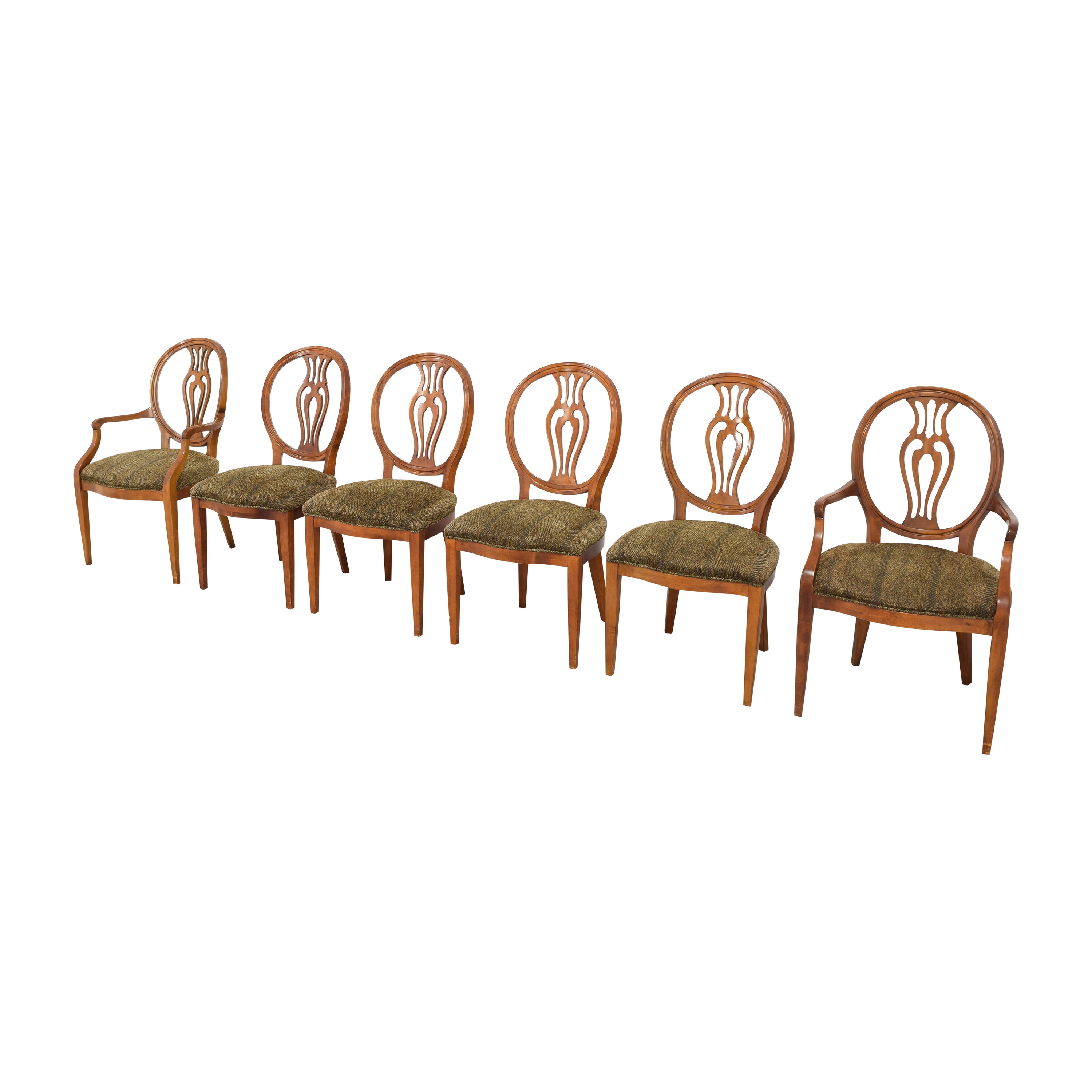 Herendon French Pierce Balloon Back Dining Chairs Henredon Furniture