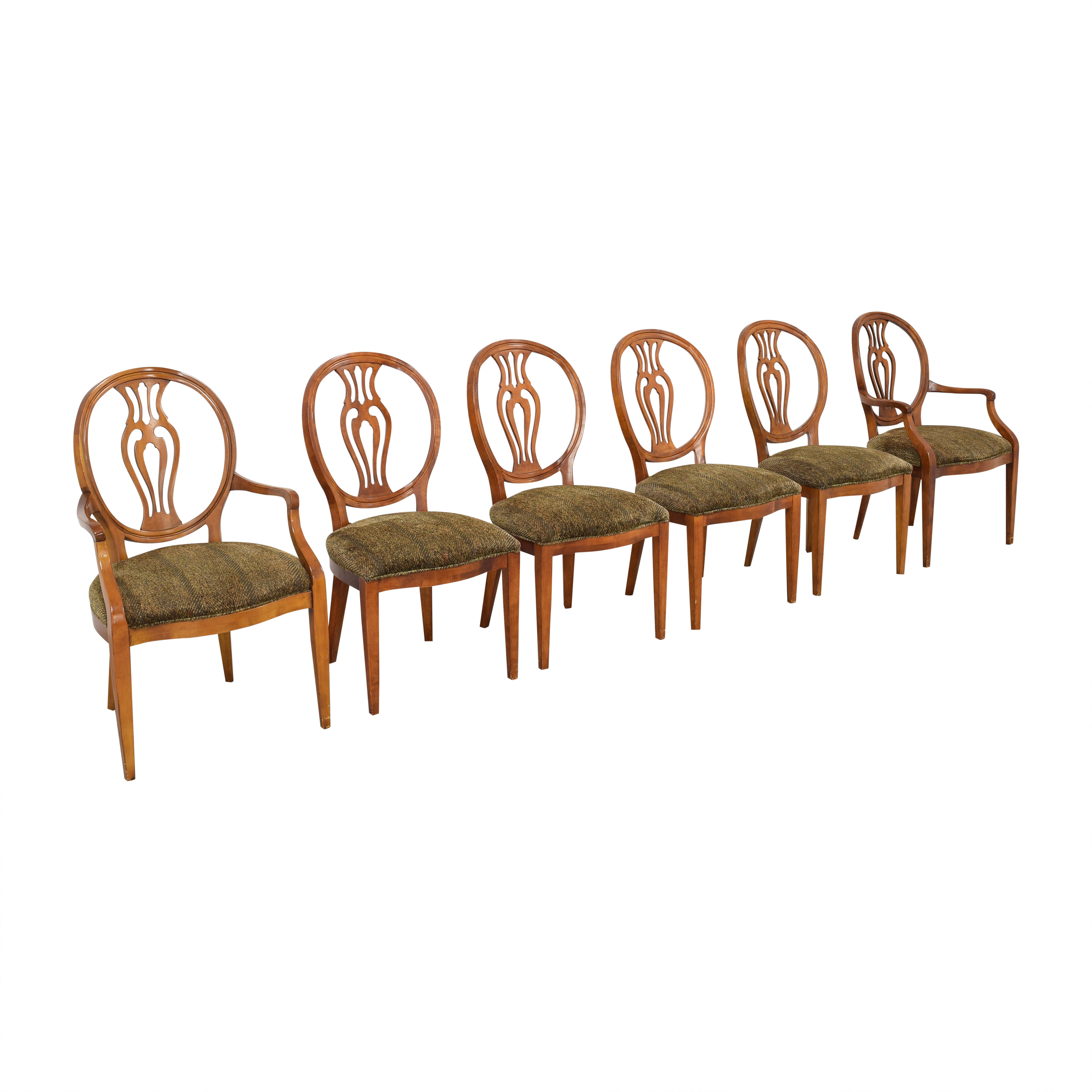 Henredon Furniture Herendon French Pierce Balloon Back Dining Chairs