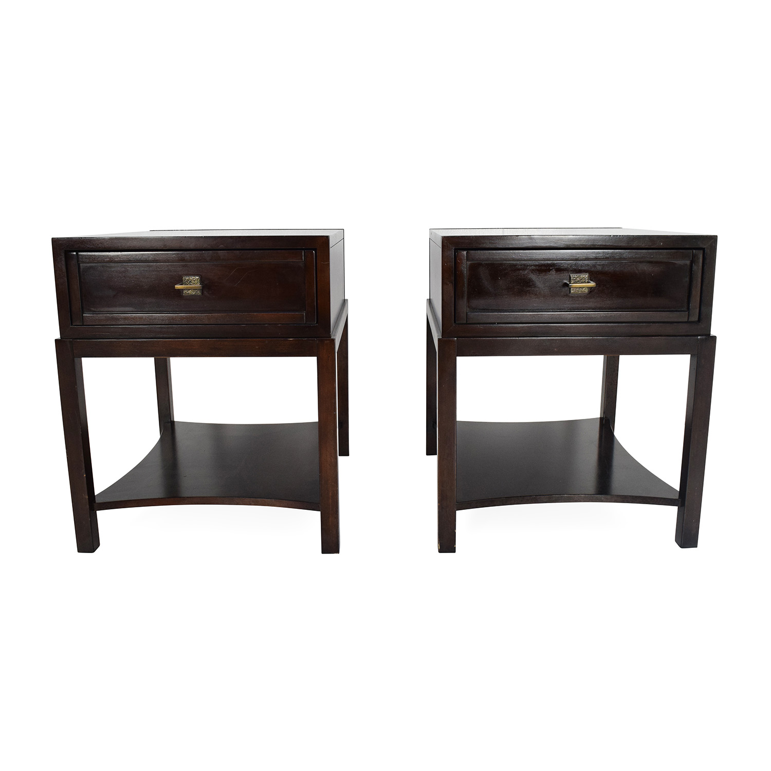Drexel Heritage End Tables. 86 Off Bungalow 5 Mame Three Drawer Side Table  Tables
