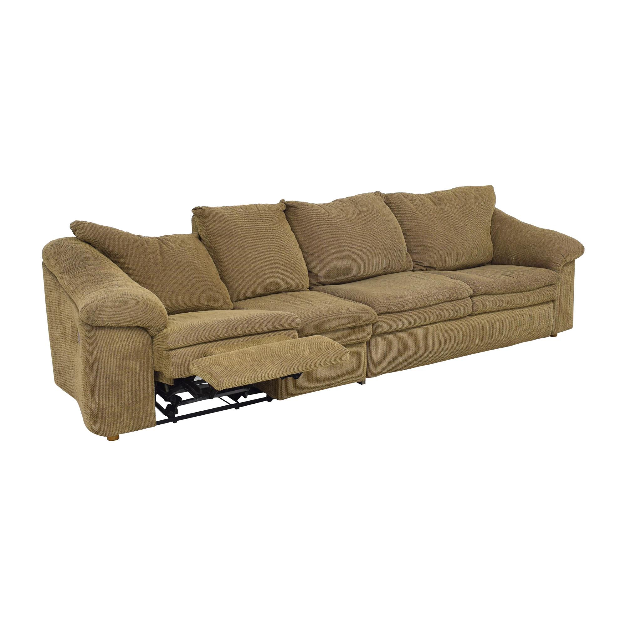 Raymour & Flanigan Sleeper Sofa with Ottoman / Sofas