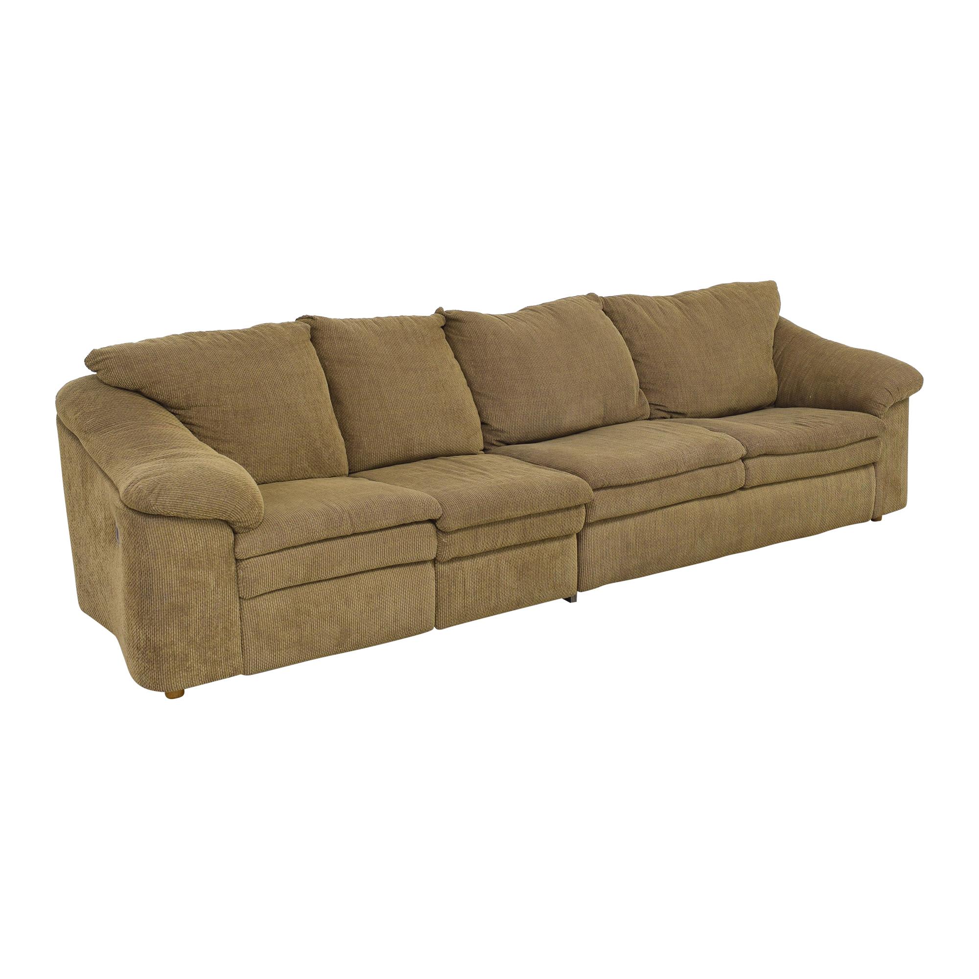 Raymour & Flanigan Raymour & Flanigan Sleeper Sofa with Ottoman pa