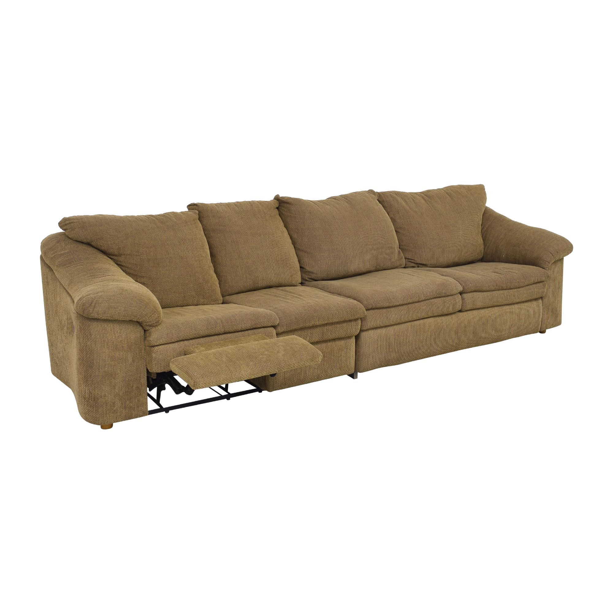 Raymour & Flanigan Raymour & Flanigan Sleeper Sofa with Ottoman brown