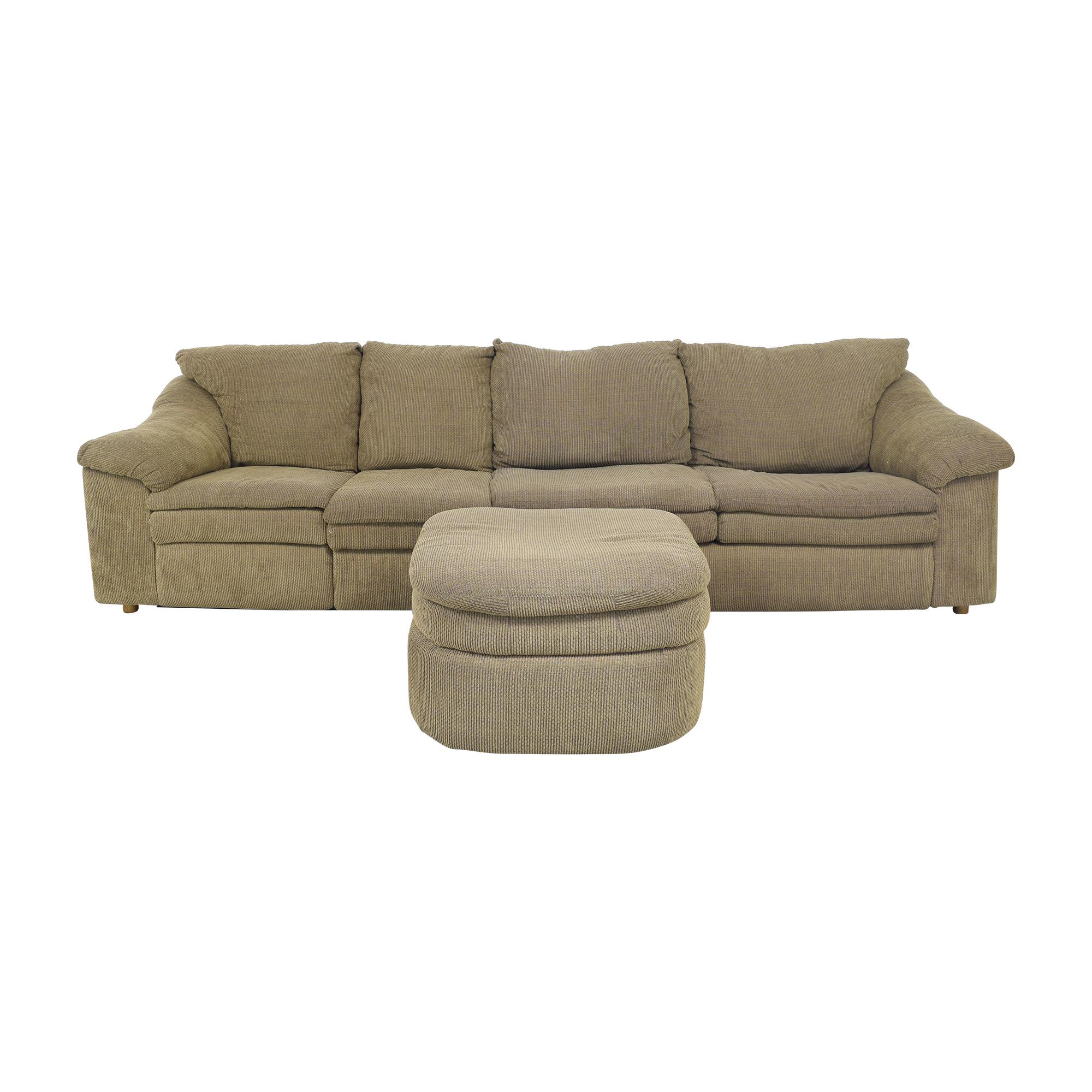 Raymour & Flanigan Raymour & Flanigan Sleeper Sofa with Ottoman for sale