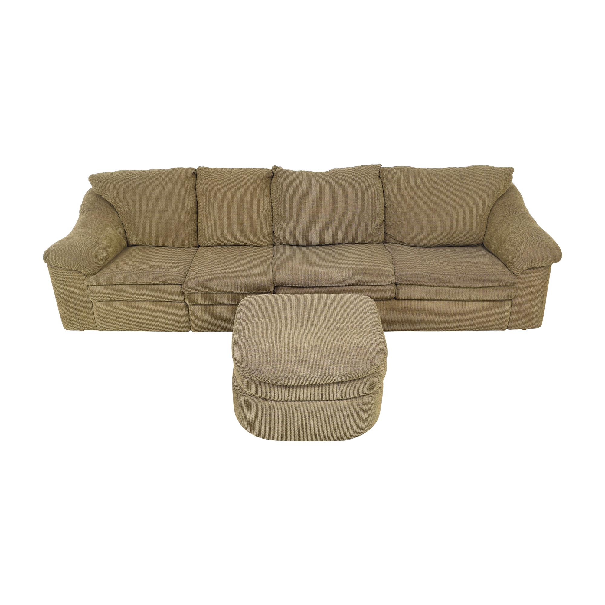 shop Raymour & Flanigan Raymour & Flanigan Sleeper Sofa with Ottoman online