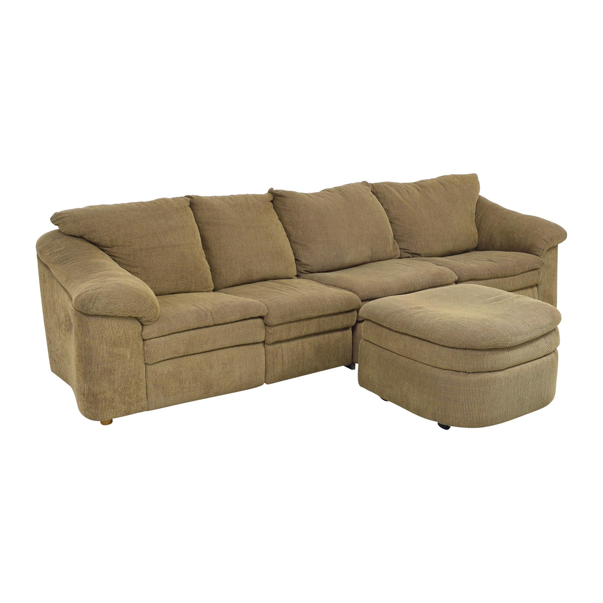 Raymour & Flanigan Raymour & Flanigan Sleeper Sofa with Ottoman on sale