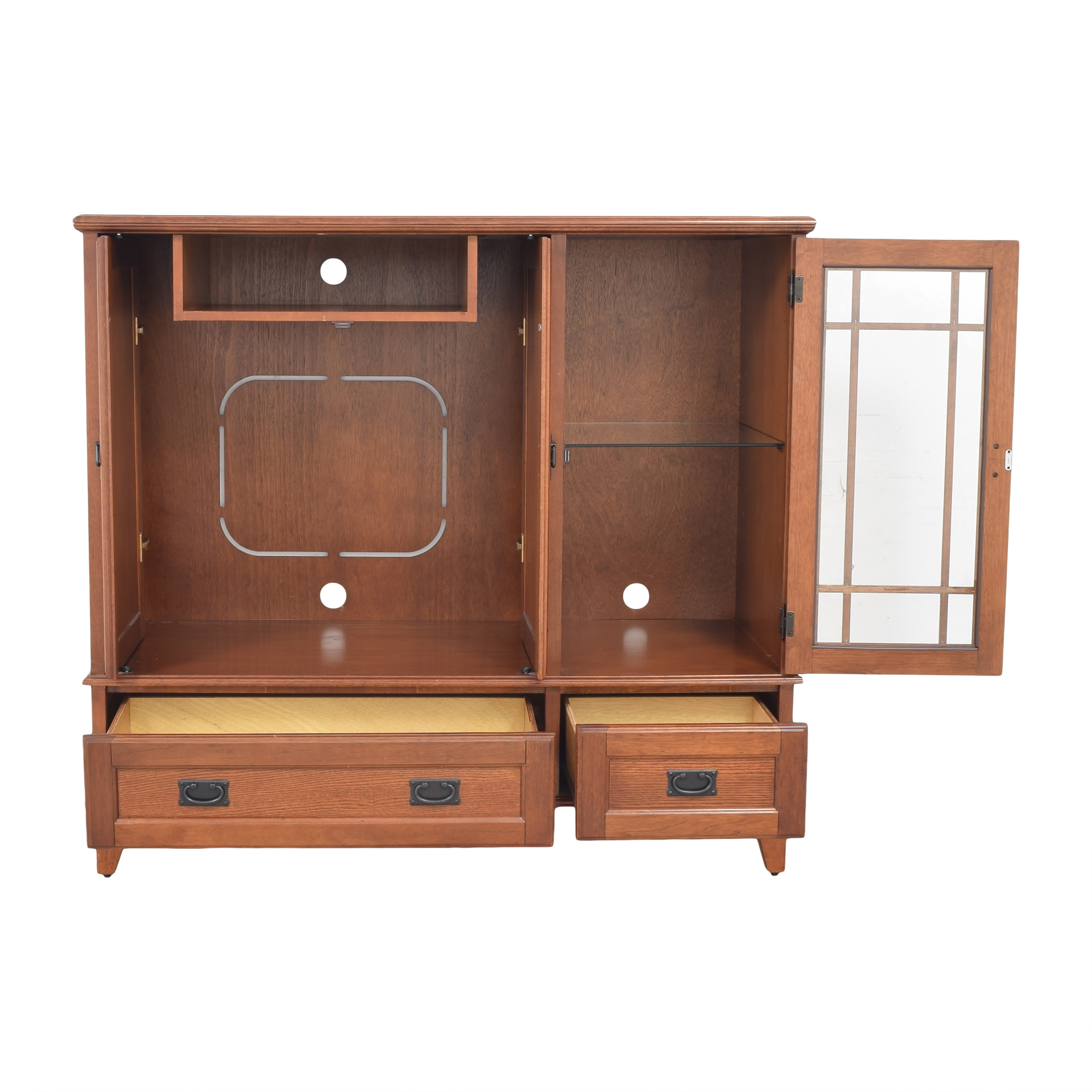 Mission-Style Entertainment Center ct