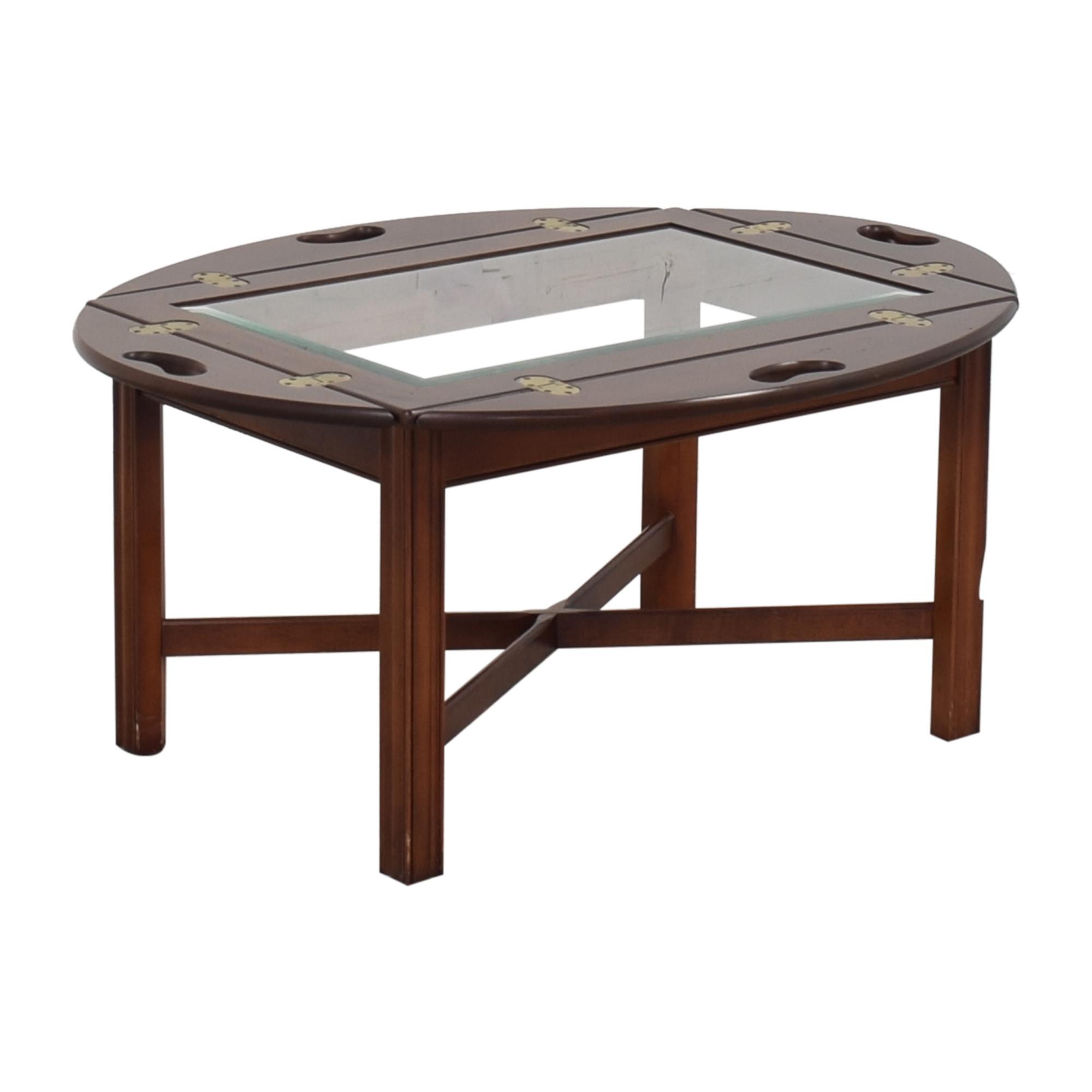 Huffman Koos Huffman Koos Fold Down Coffee Table brown