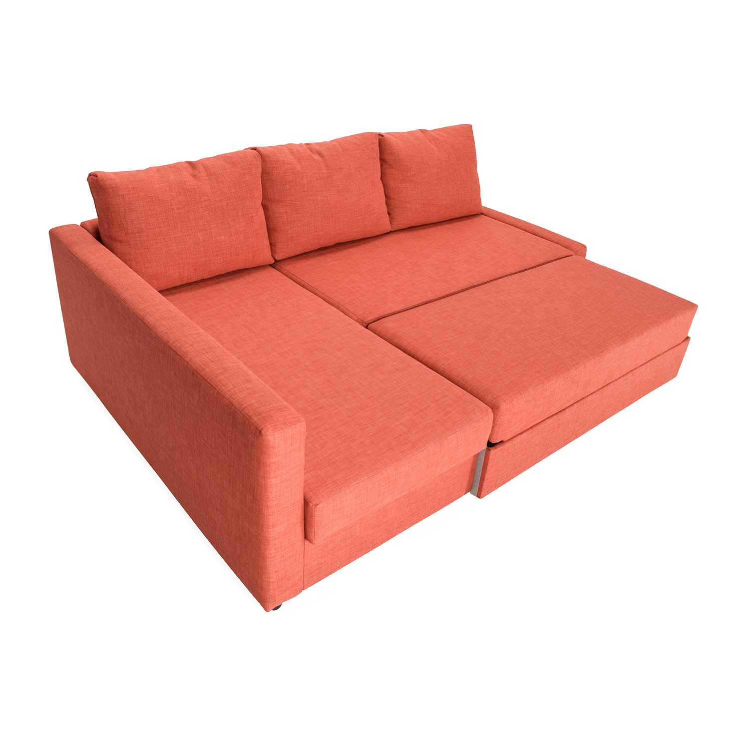 IKEA FRIHETEN Sofa Bed With Chaise Orange