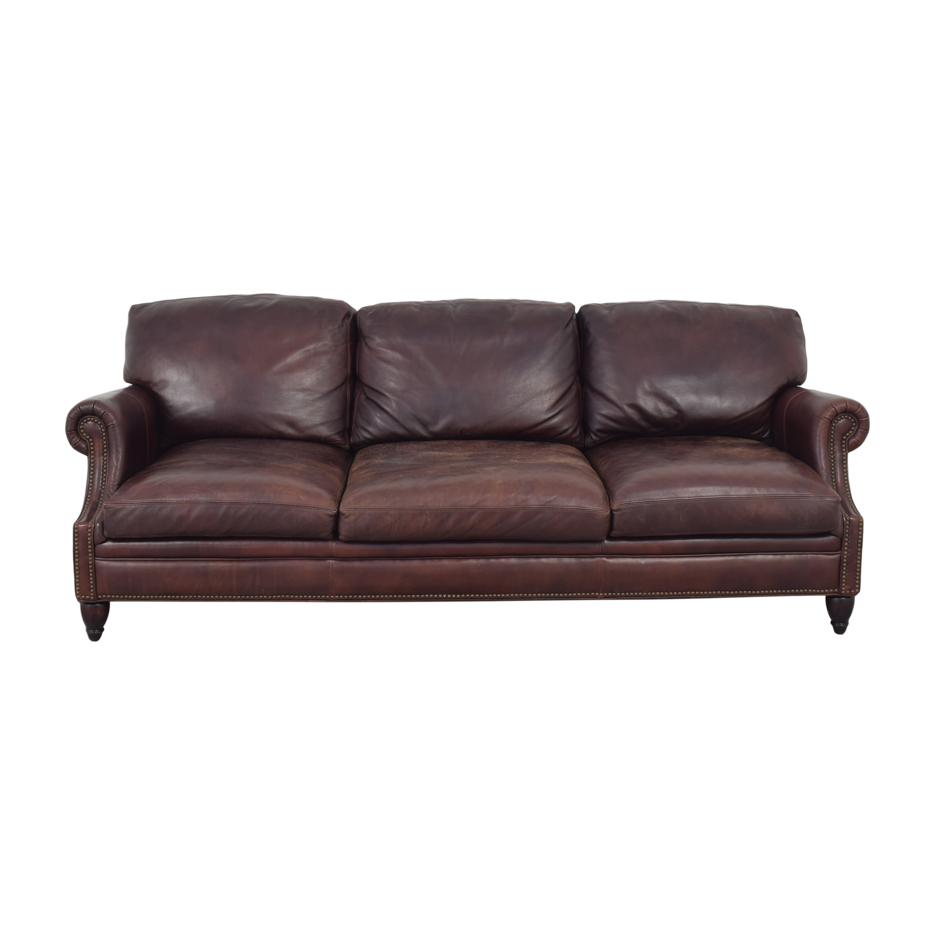 Three Cushion Roll Arm Sofa Classic Sofas