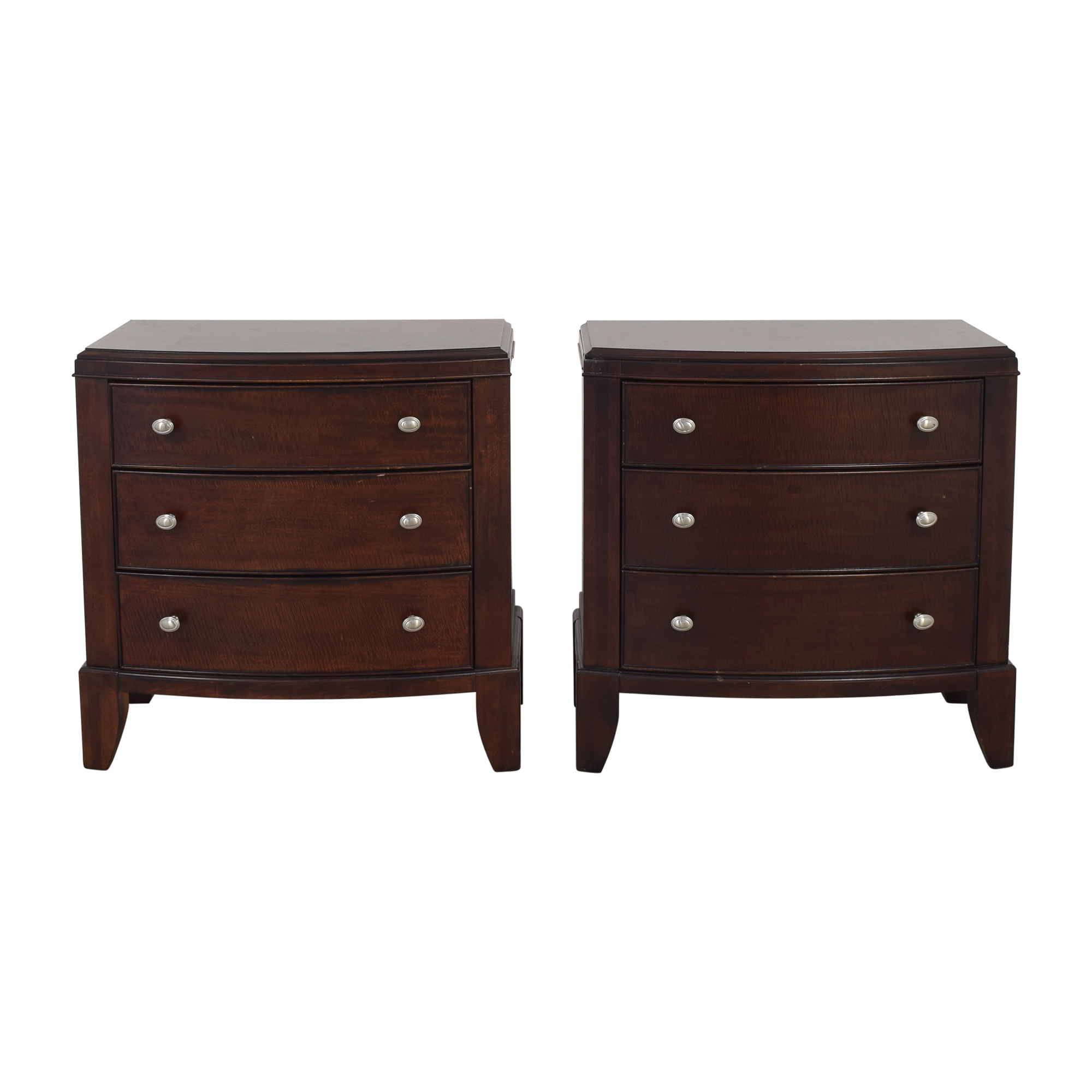 Macy's Macy's Three Drawer Nightstands ct
