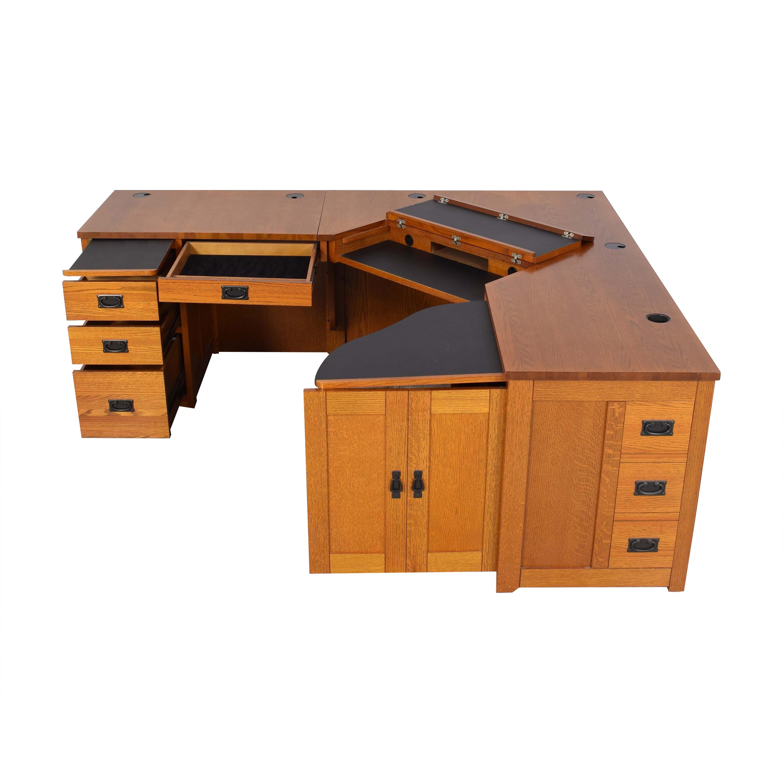 American Woodcrafters American Woodcrafters Mission-Style Desk dimensions