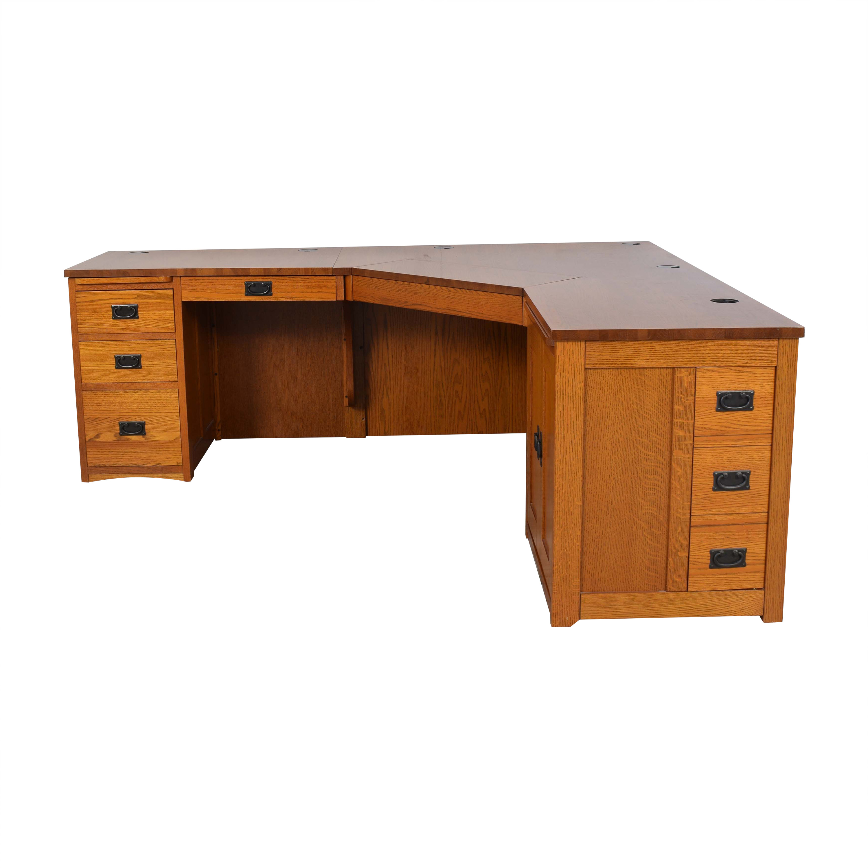 American Woodcrafters American Woodcrafters Mission-Style Desk brown