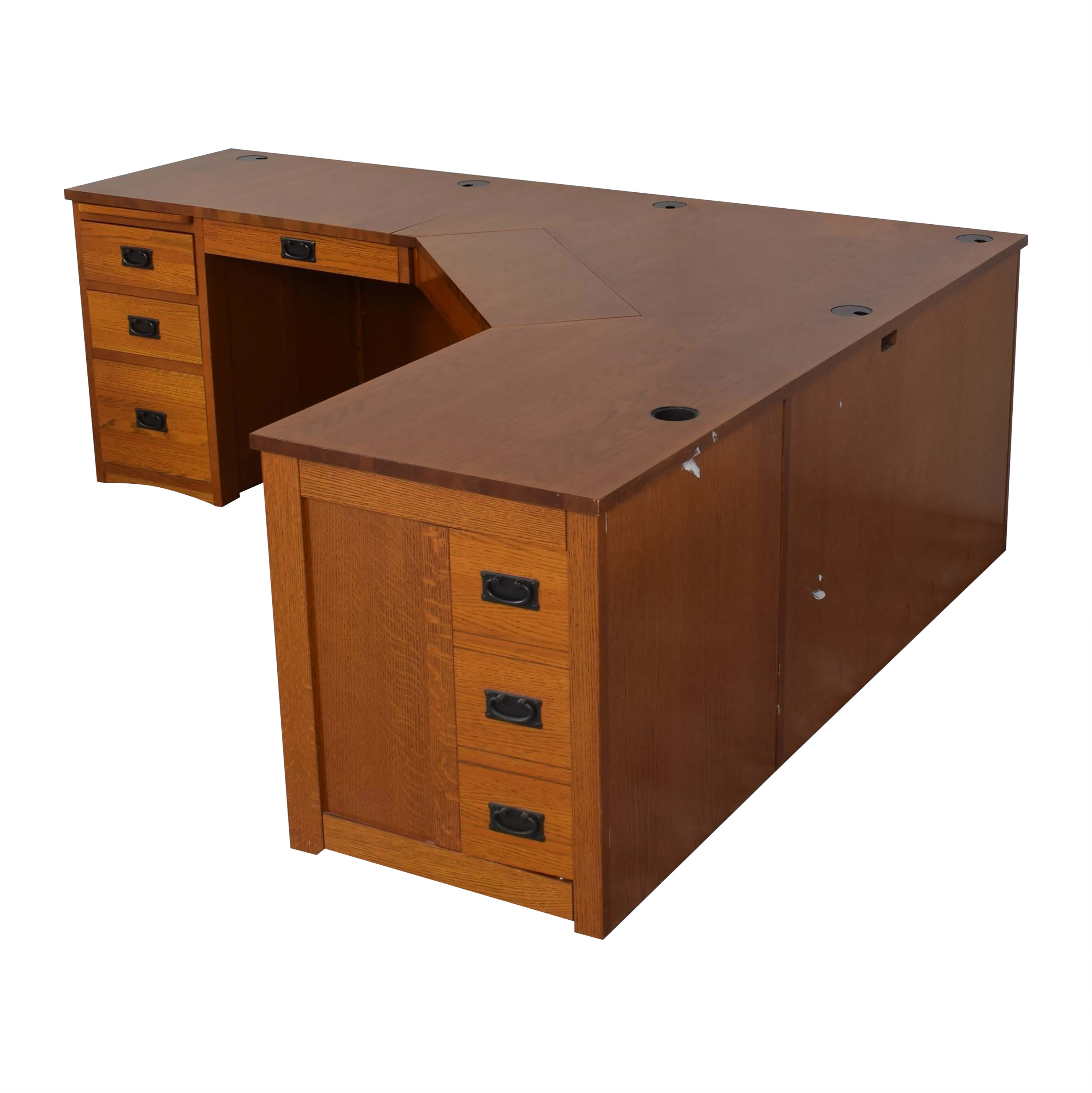 American Woodcrafters American Woodcrafters Mission-Style Desk second hand