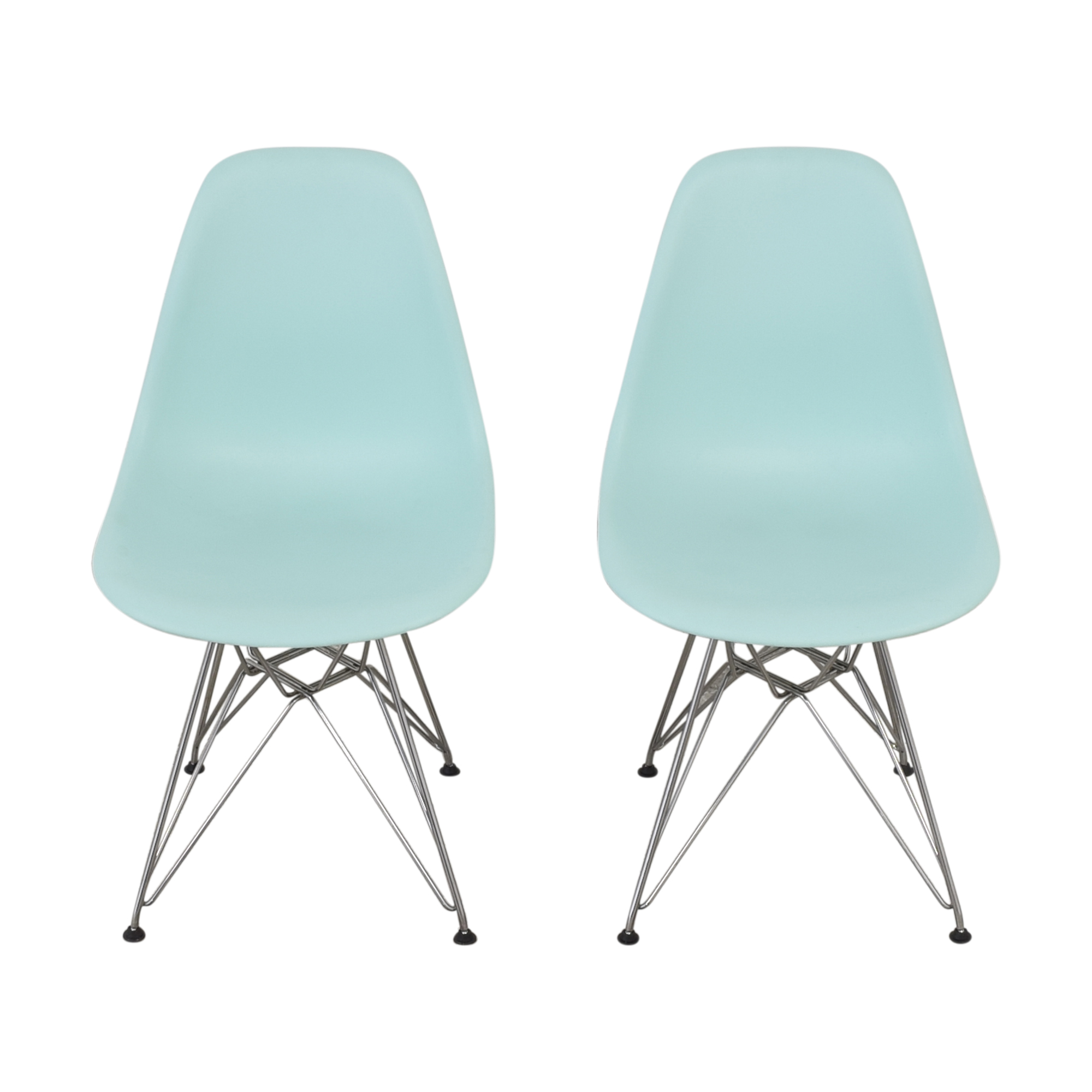 shop Herman Miller Eames Molded Plastic Wire-Base Side Chairs Herman Miller Dining Chairs