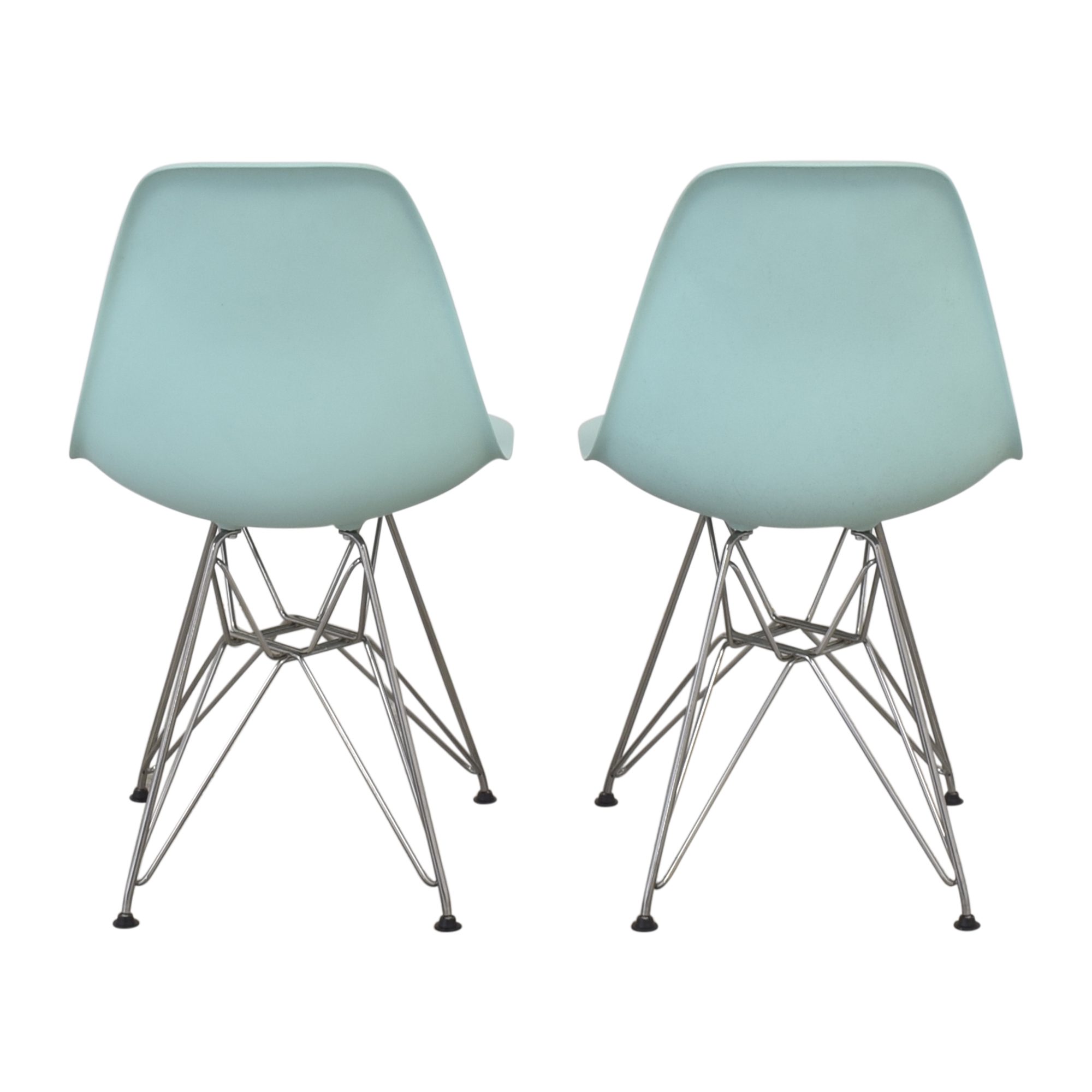 Herman Miller Herman Miller Eames Molded Plastic Wire-Base Side Chairs second hand