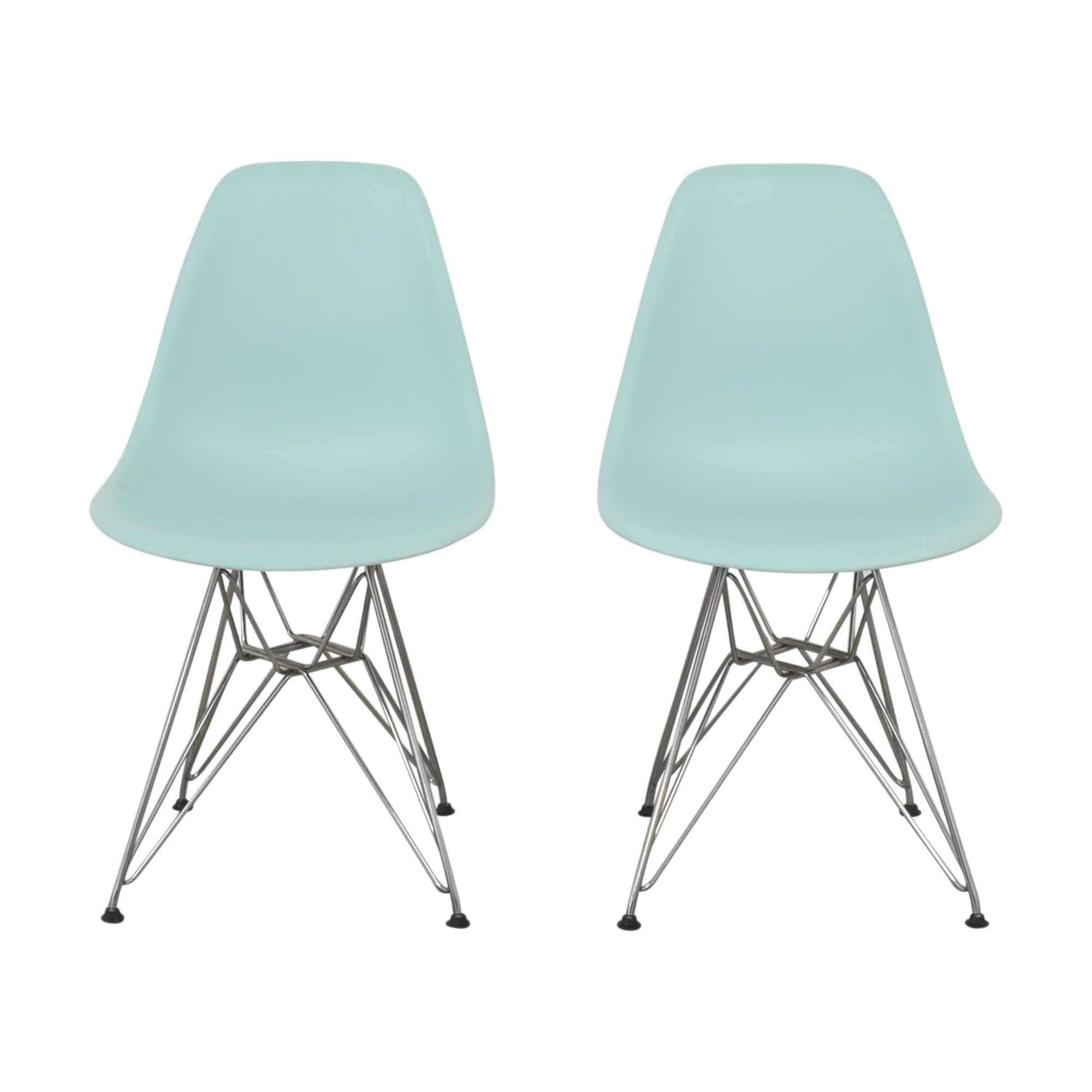 Herman Miller Herman Miller Eames Molded Plastic Wire-Base Side Chairs discount