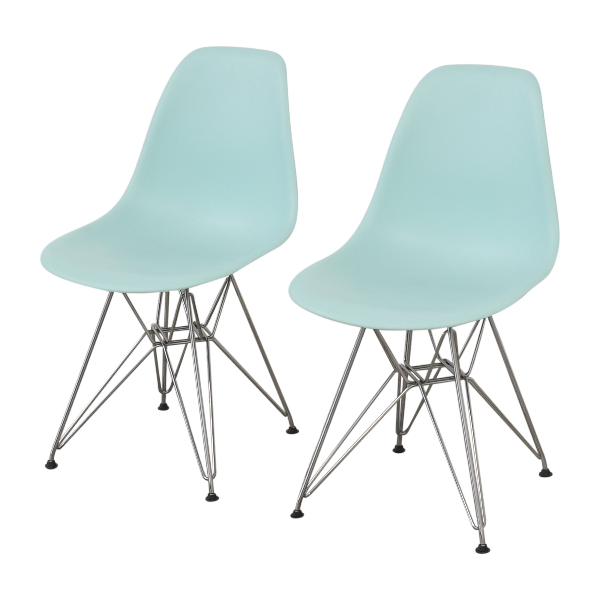 shop Herman Miller Herman Miller Eames Molded Plastic Wire-Base Side Chairs online