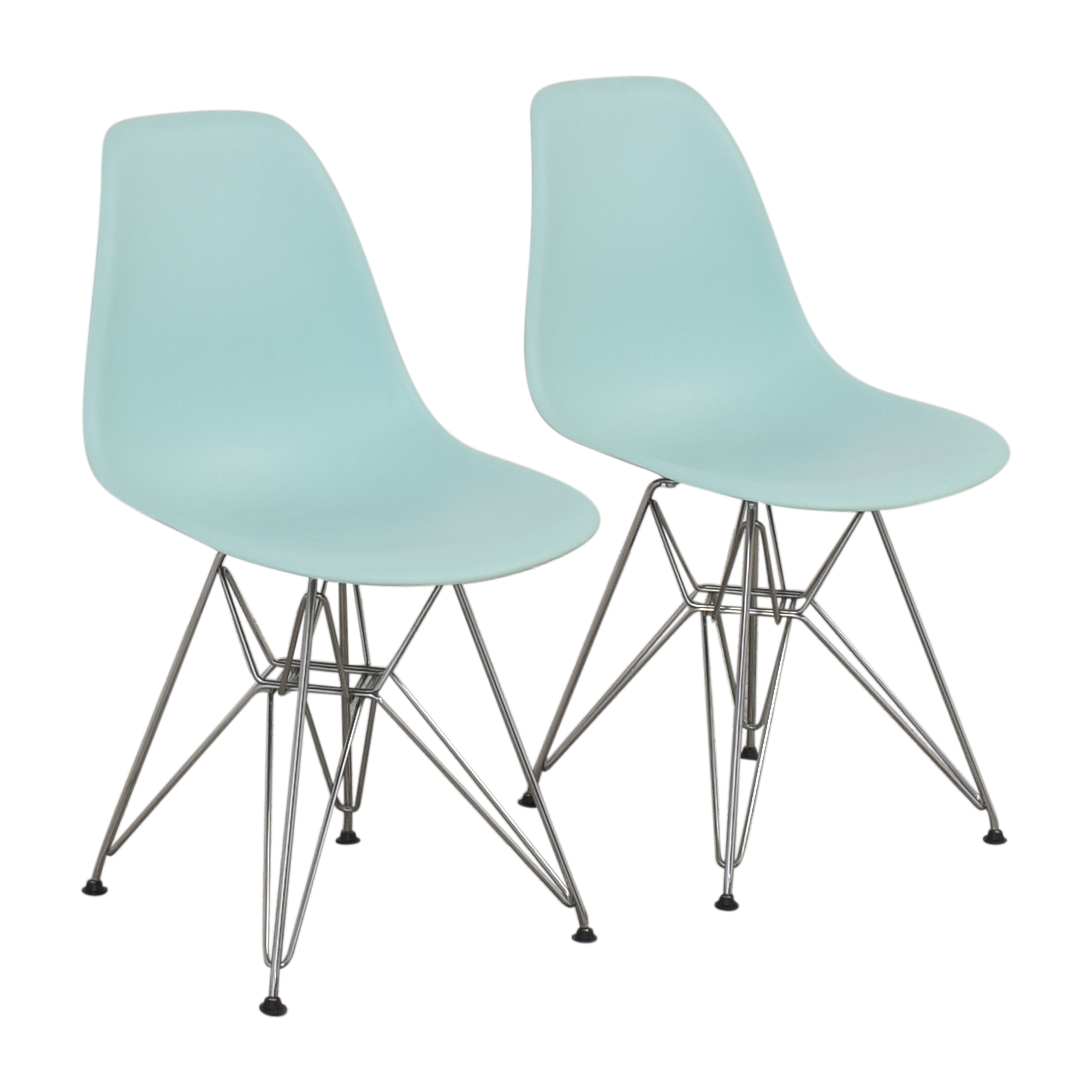 Herman Miller Herman Miller Eames Molded Plastic Wire-Base Side Chairs on sale