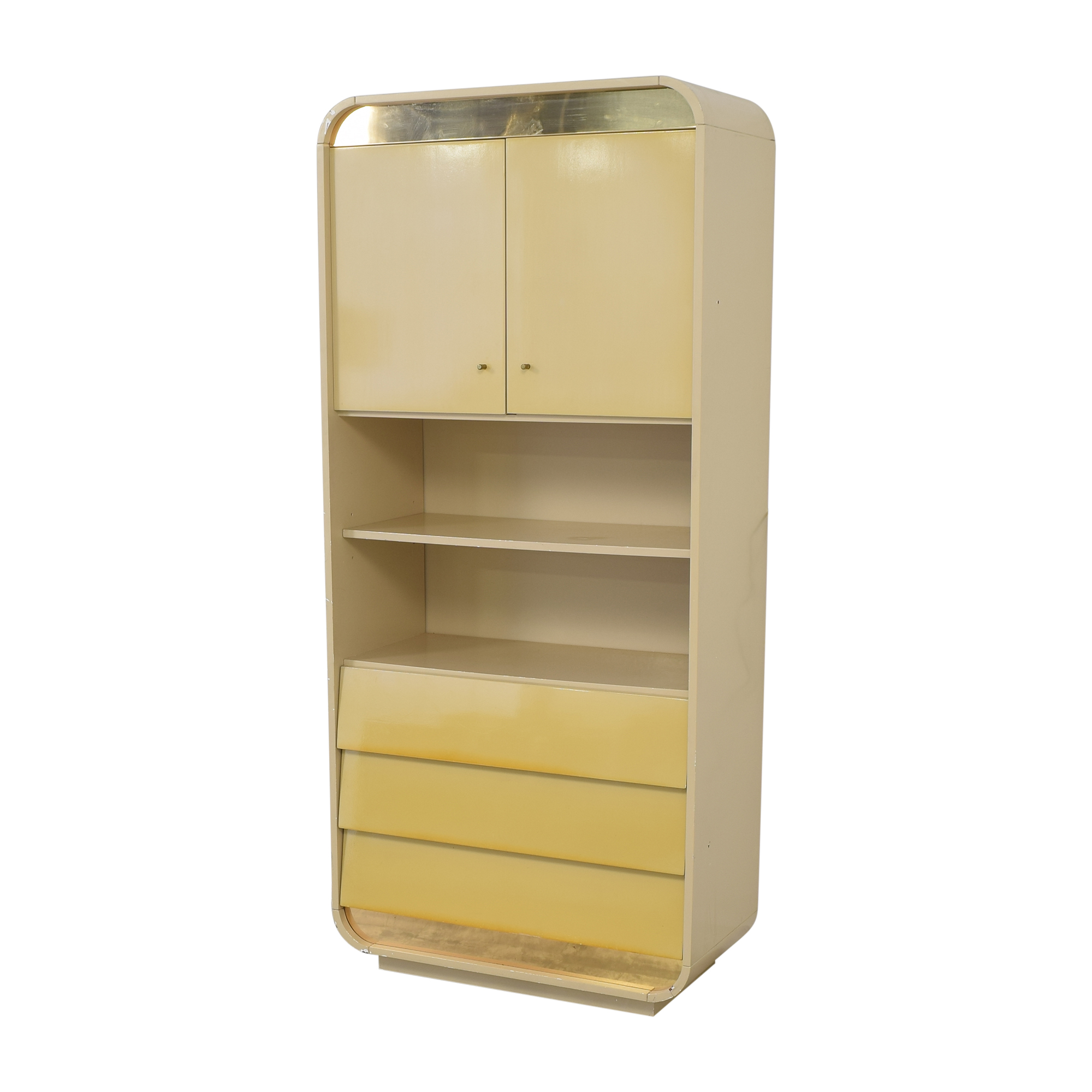 shop Custom Cabinet with Bookcase  Storage