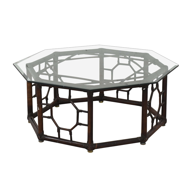 Hexagonal Base Coffee Table Tables