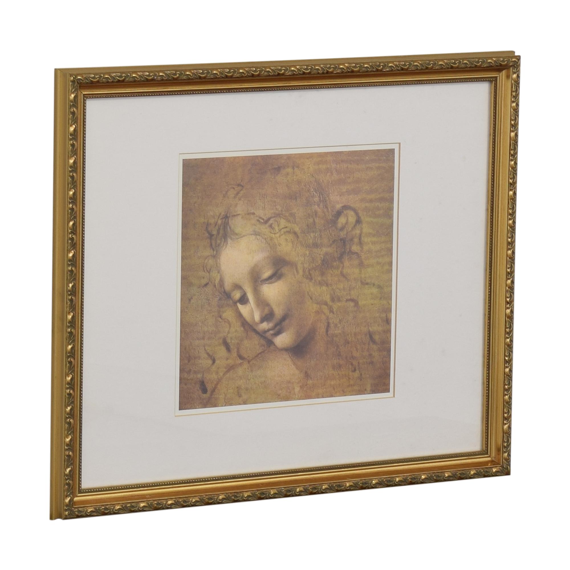 shop  Framed La Scapaliata Da Vinci Wall Art online